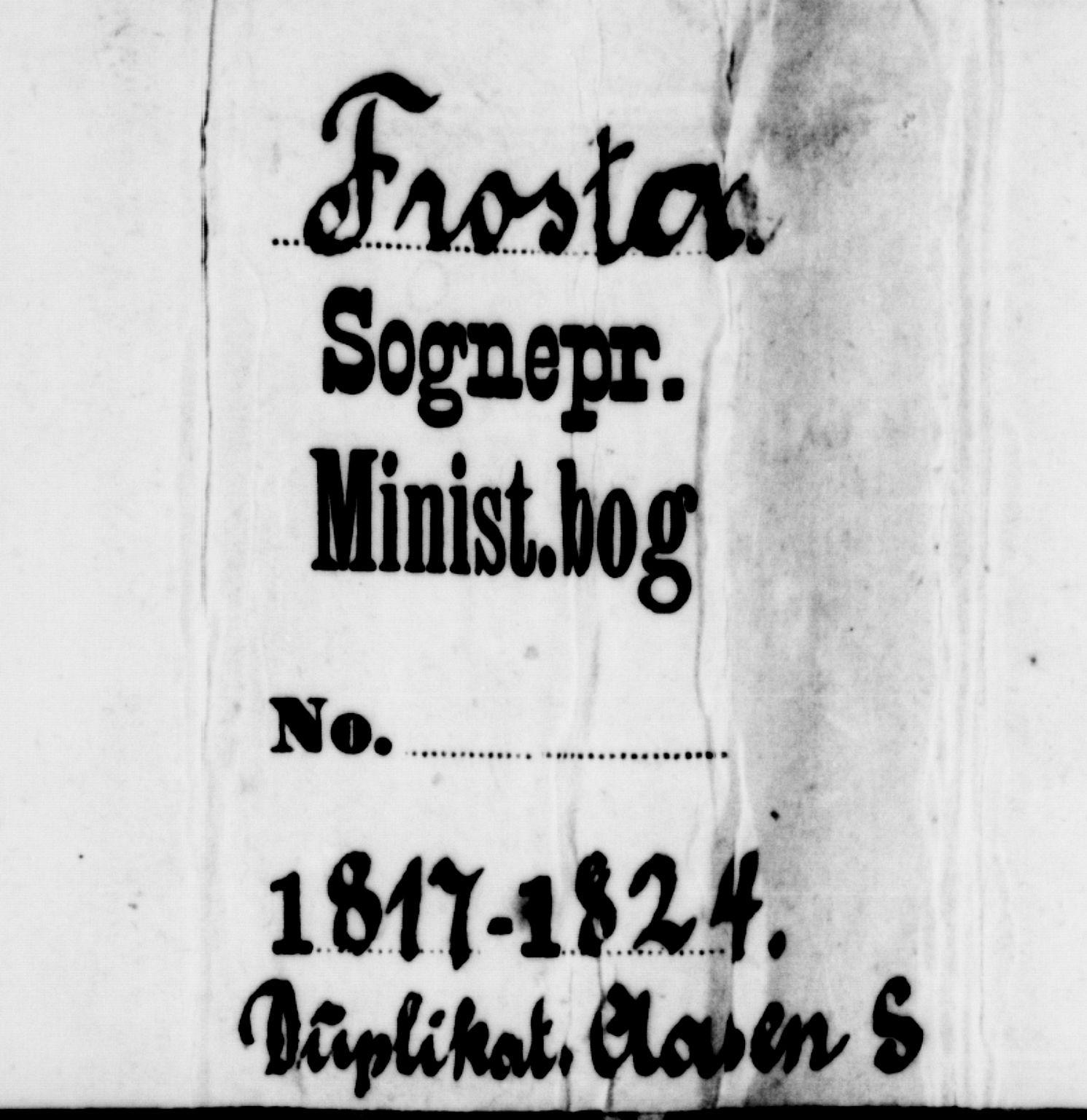 SAT, Ministerialprotokoller, klokkerbøker og fødselsregistre - Nord-Trøndelag, 714/L0132: Klokkerbok nr. 714C01, 1817-1824