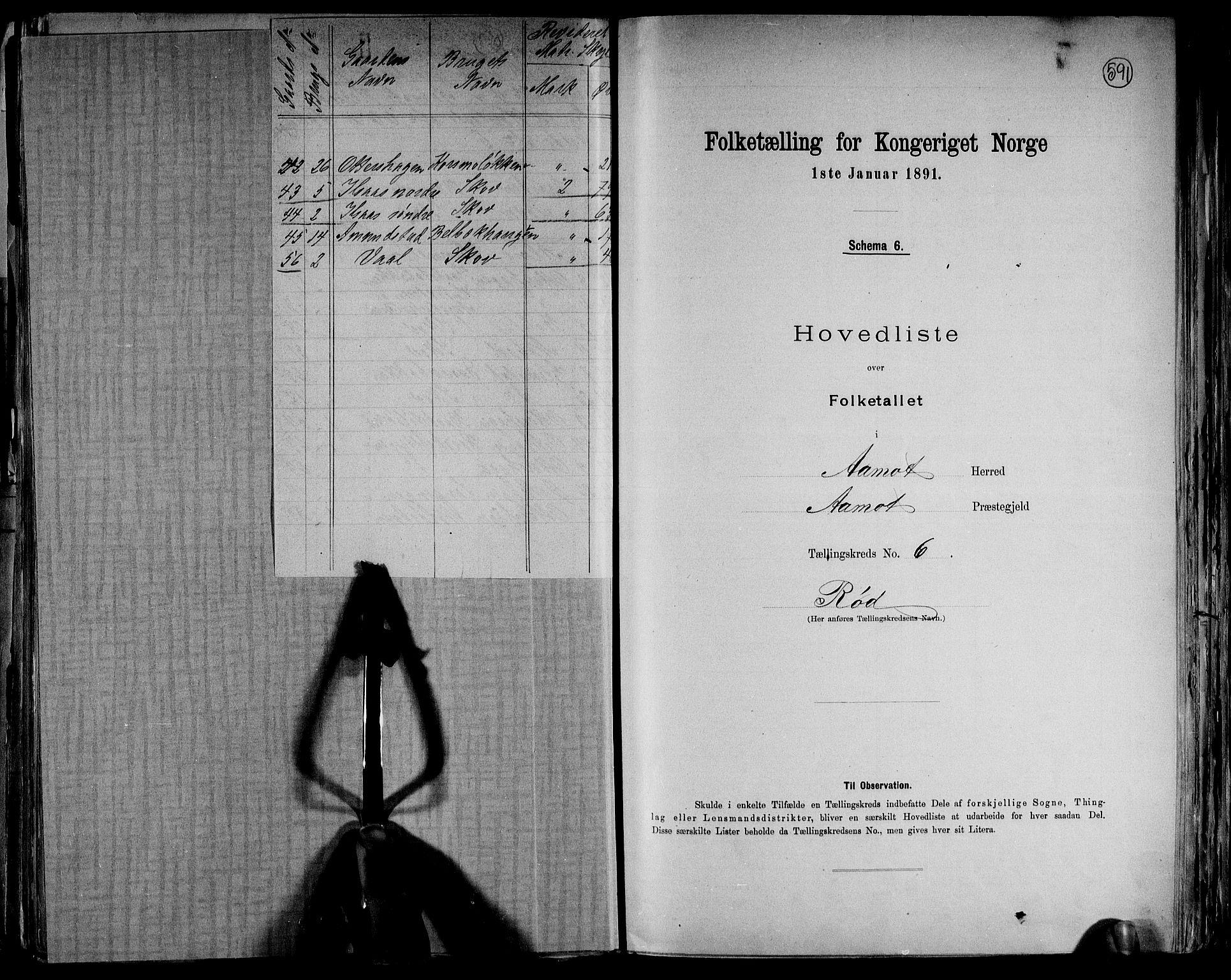 RA, Folketelling 1891 for 0429 Åmot herred, 1891, s. 20