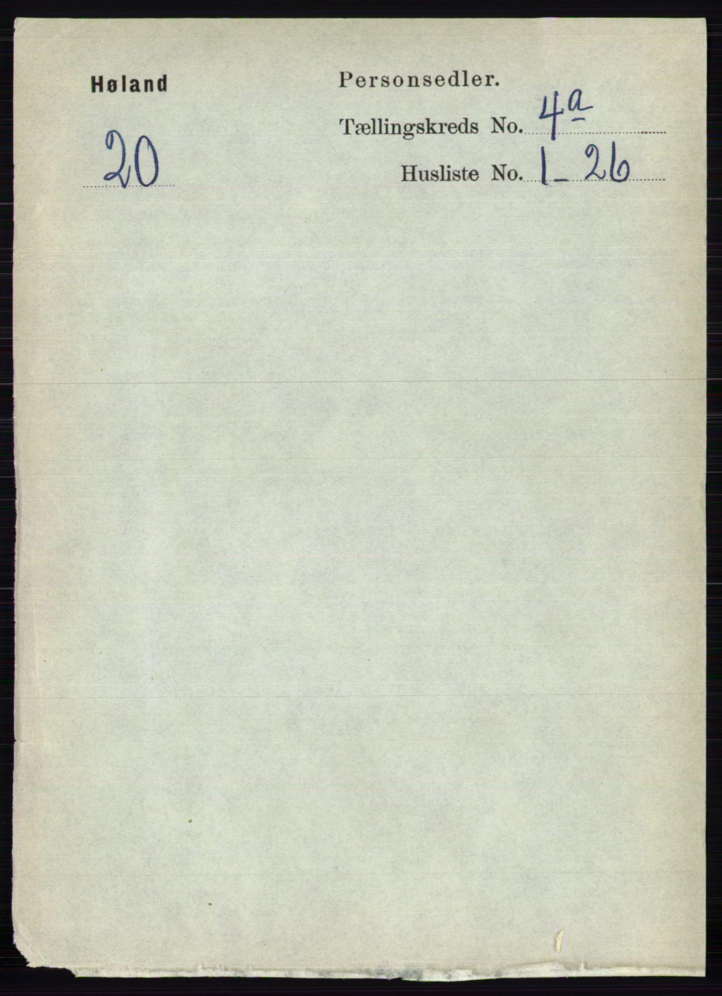 RA, Folketelling 1891 for 0221 Høland herred, 1891, s. 2558