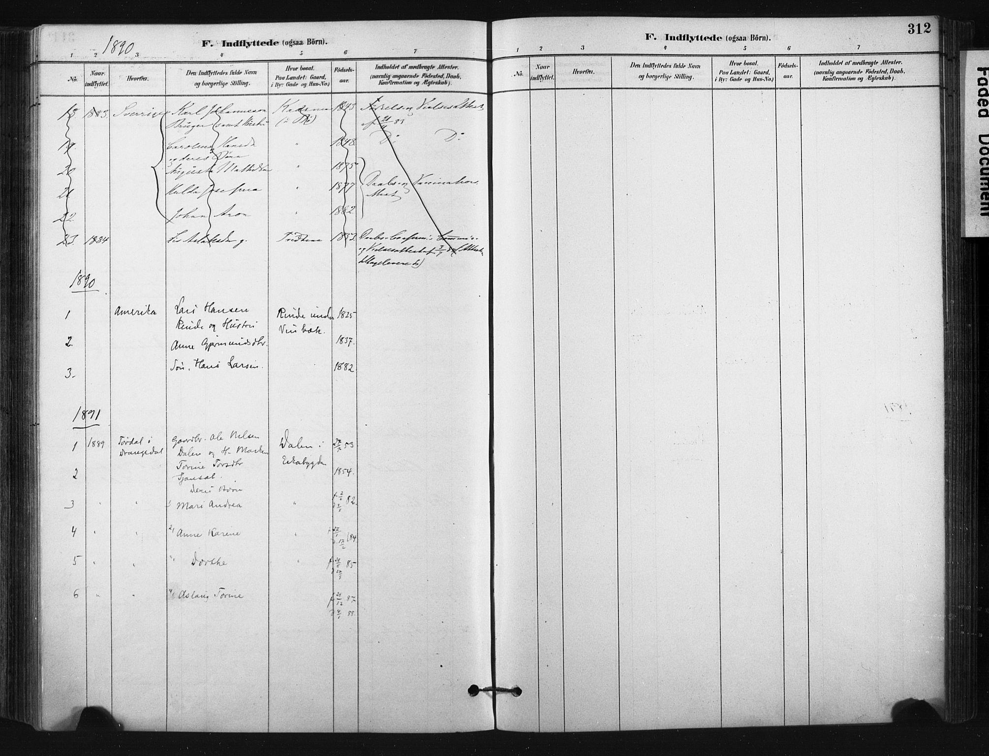 SAKO, Bø kirkebøker, F/Fa/L0010: Ministerialbok nr. 10, 1880-1892, s. 312