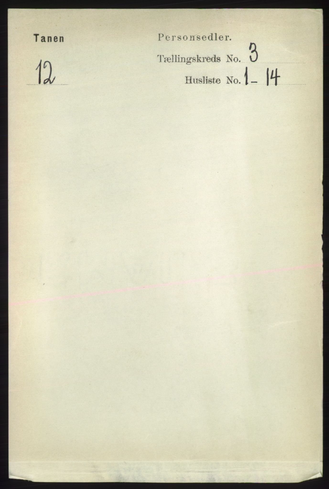 RA, Folketelling 1891 for 2025 Tana herred, 1891, s. 1503