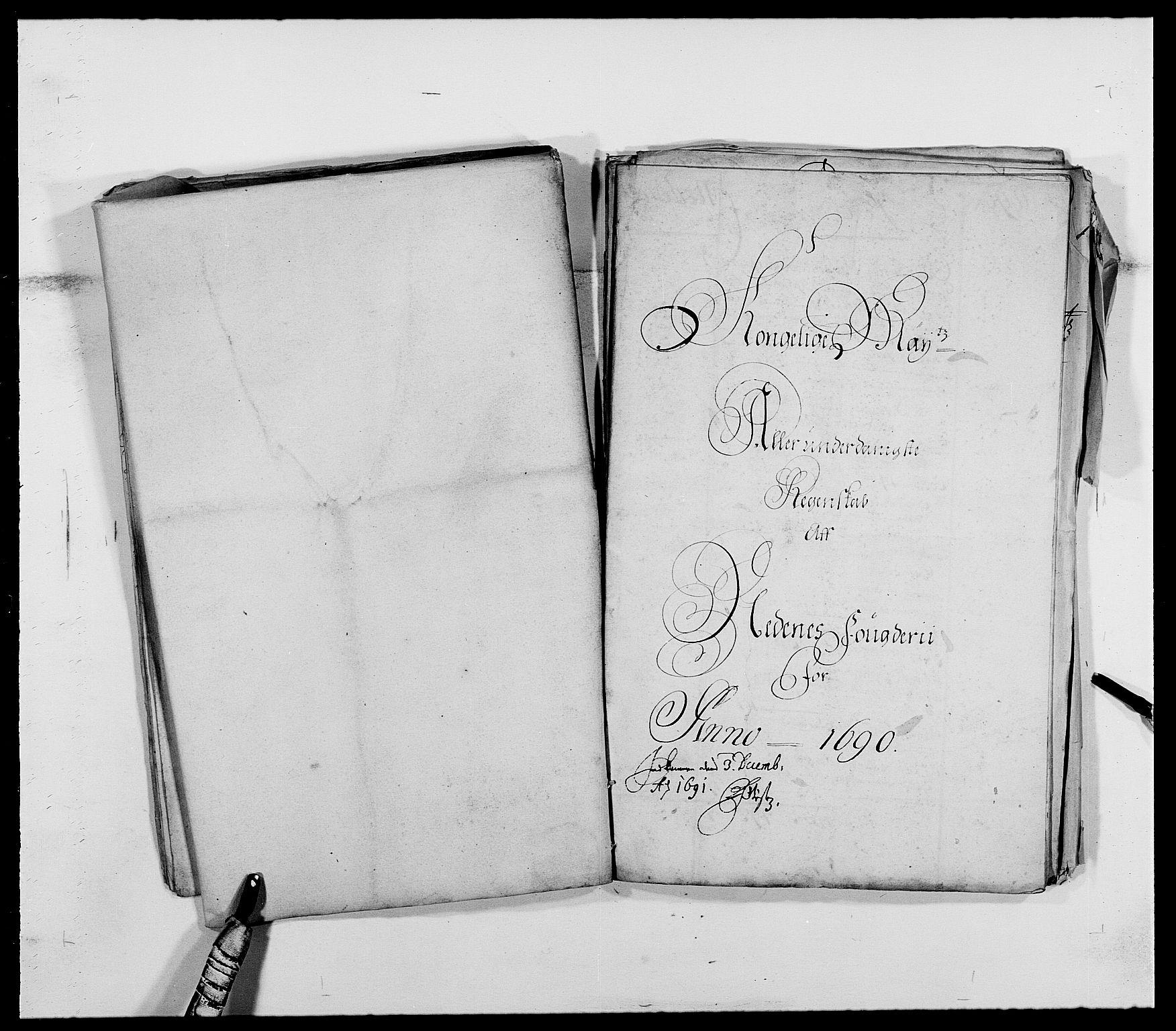 RA, Rentekammeret inntil 1814, Reviderte regnskaper, Fogderegnskap, R39/L2310: Fogderegnskap Nedenes, 1690-1692, s. 19