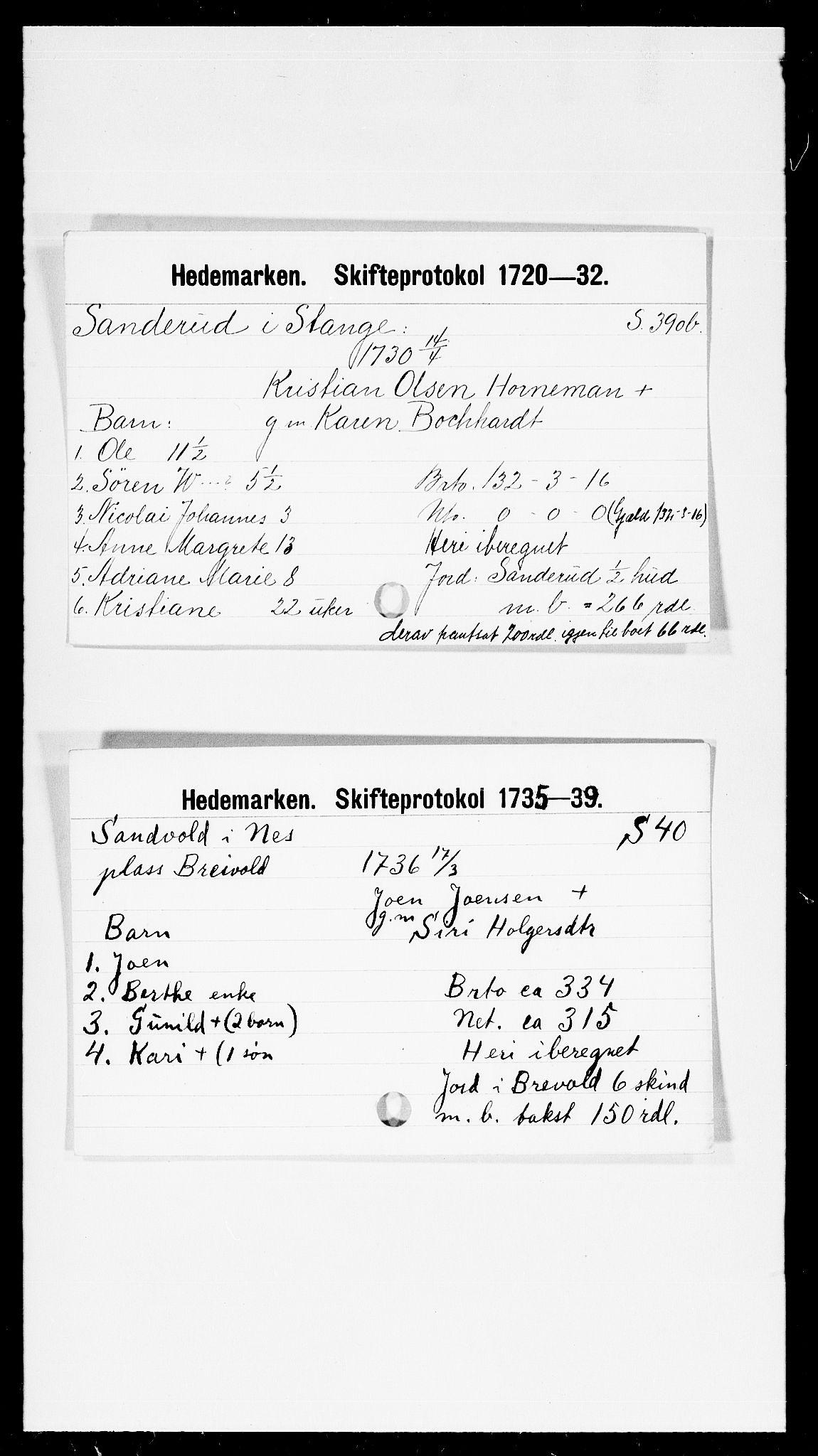 SAH, Hedemarken sorenskriveri, J, 1663-1743, s. 5386