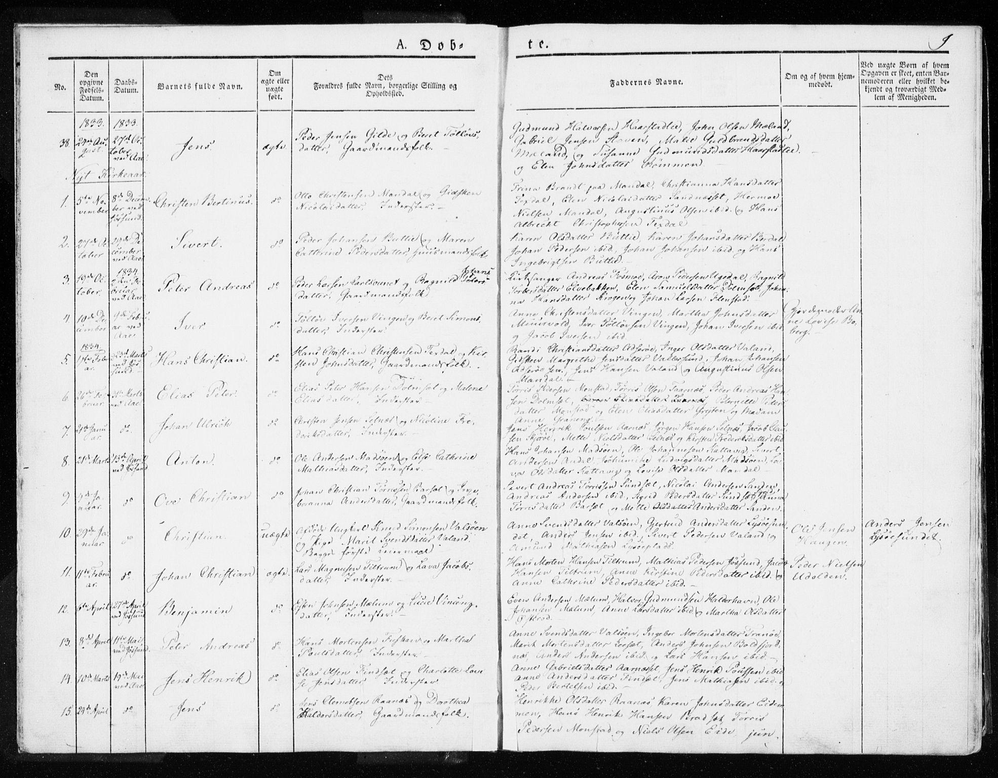 SAT, Ministerialprotokoller, klokkerbøker og fødselsregistre - Sør-Trøndelag, 655/L0676: Ministerialbok nr. 655A05, 1830-1847, s. 9