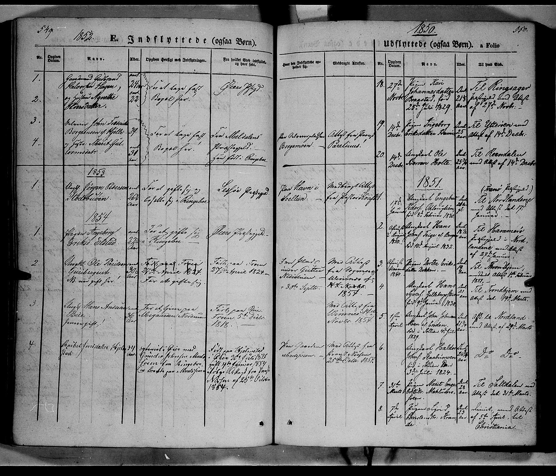 SAH, Ringebu prestekontor, Ministerialbok nr. 6, 1848-1859, s. 549-550