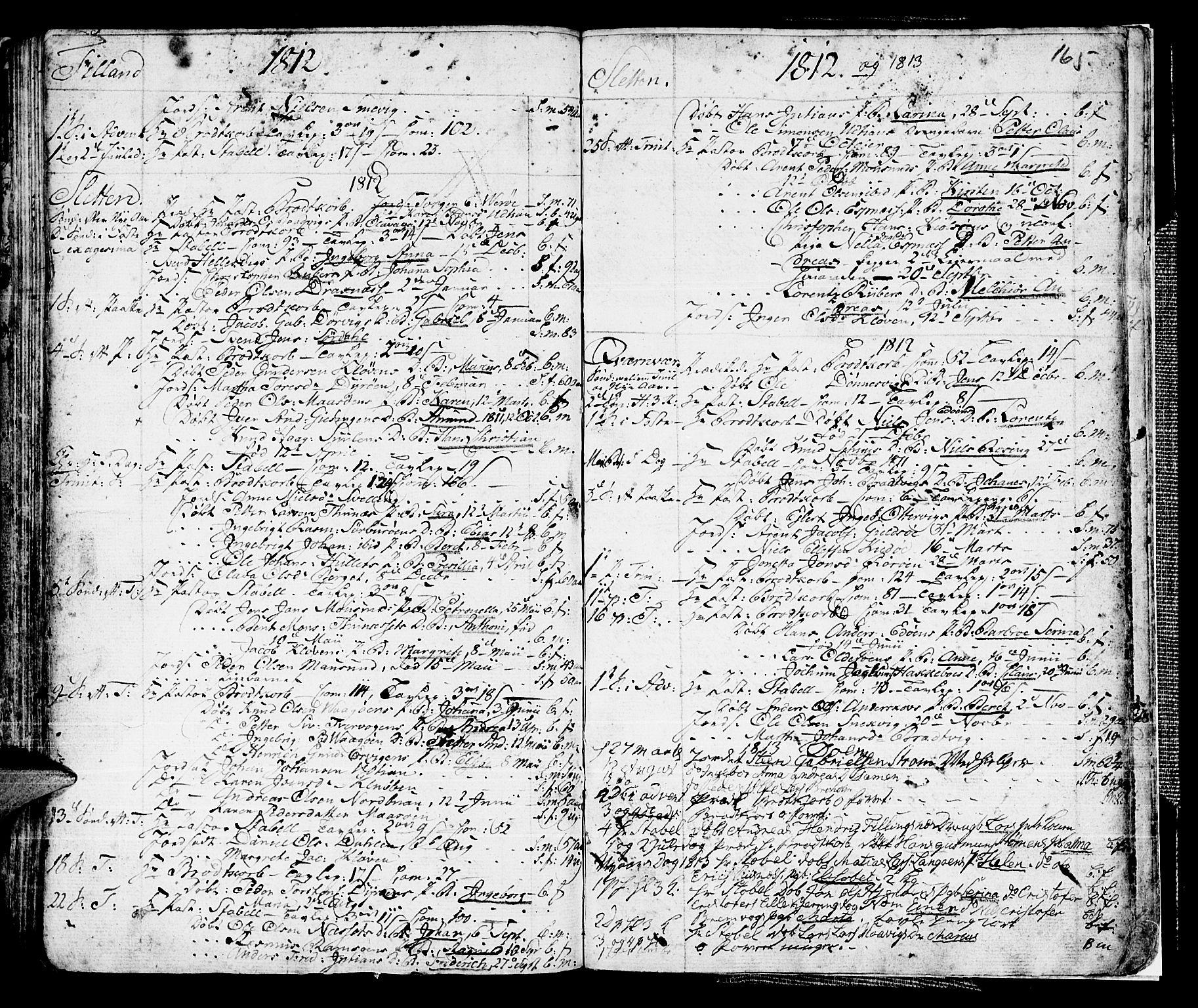 SAT, Ministerialprotokoller, klokkerbøker og fødselsregistre - Sør-Trøndelag, 634/L0526: Ministerialbok nr. 634A02, 1775-1818, s. 165