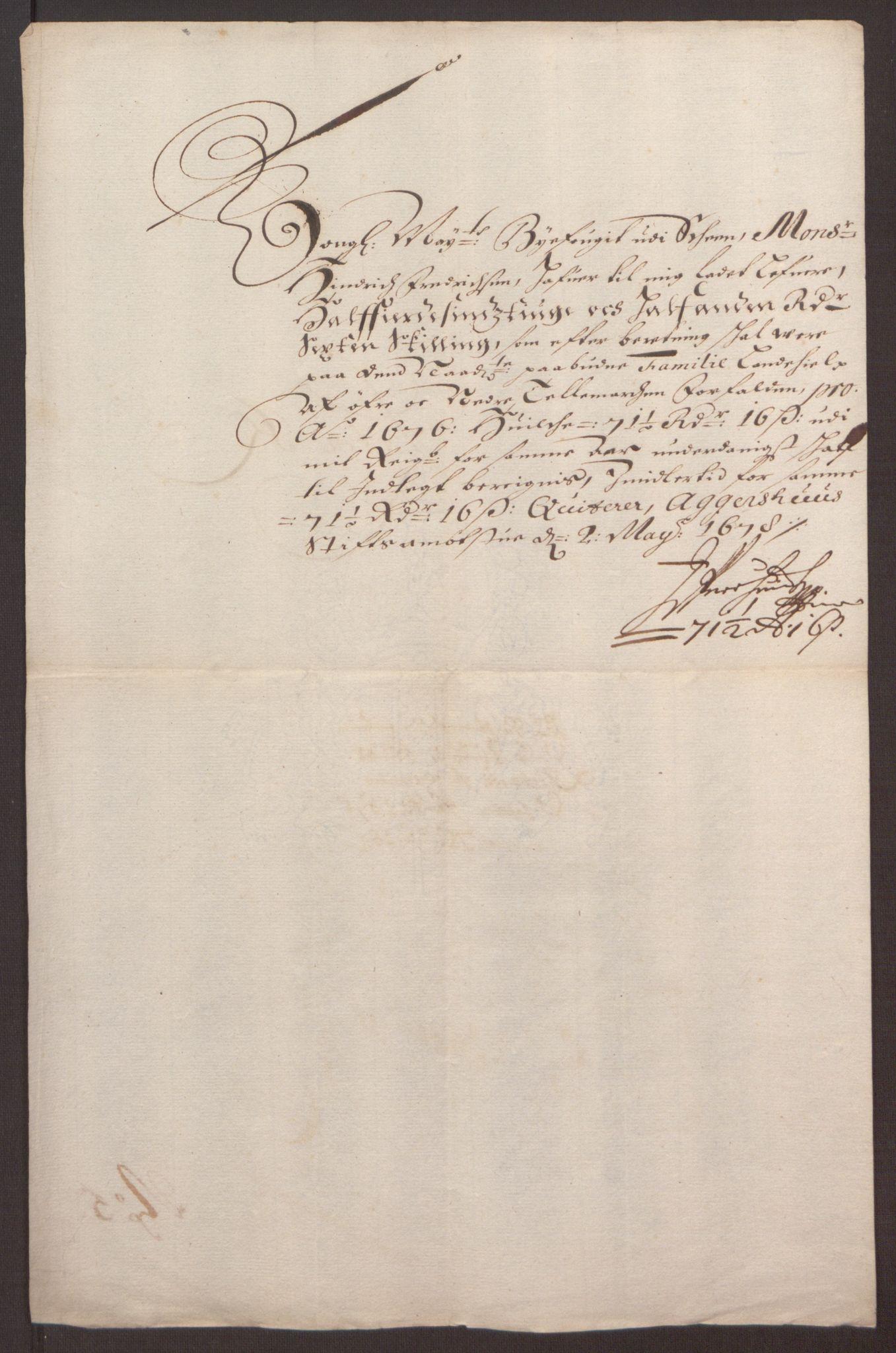 RA, Rentekammeret inntil 1814, Reviderte regnskaper, Fogderegnskap, R35/L2066: Fogderegnskap Øvre og Nedre Telemark, 1676, s. 217