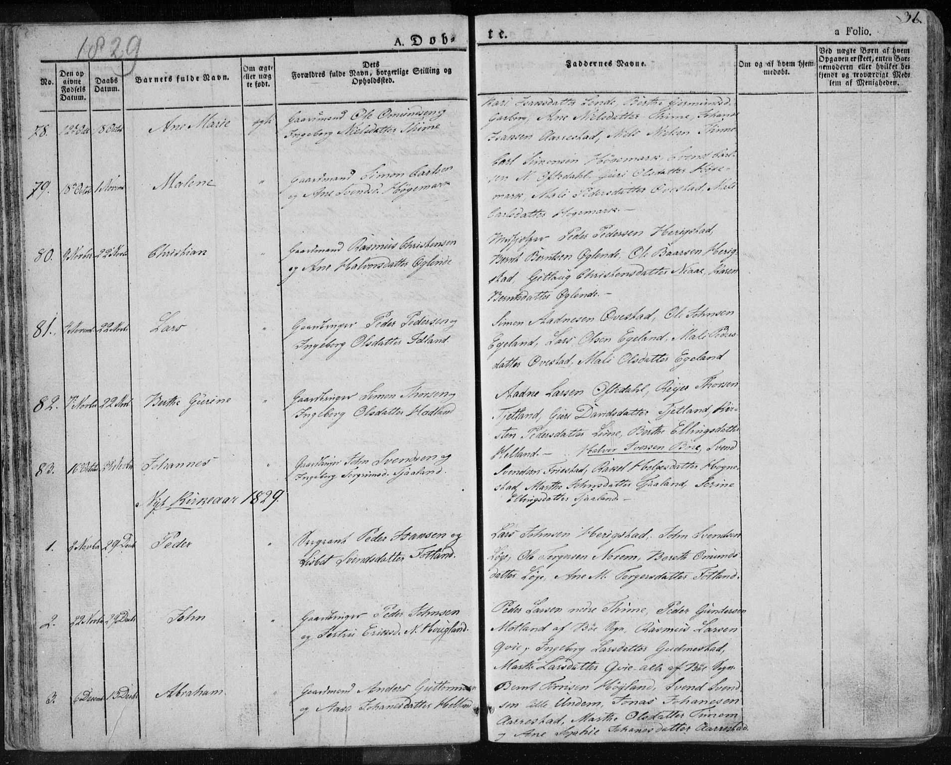 SAST, Lye sokneprestkontor, 30BA/L0004: Ministerialbok nr. A 4, 1826-1841, s. 36