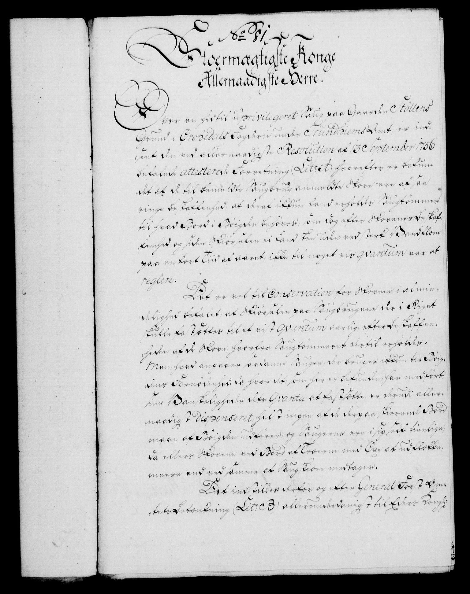 RA, Rentekammeret, Kammerkanselliet, G/Gf/Gfa/L0047: Norsk relasjons- og resolusjonsprotokoll (merket RK 52.47), 1765, s. 351