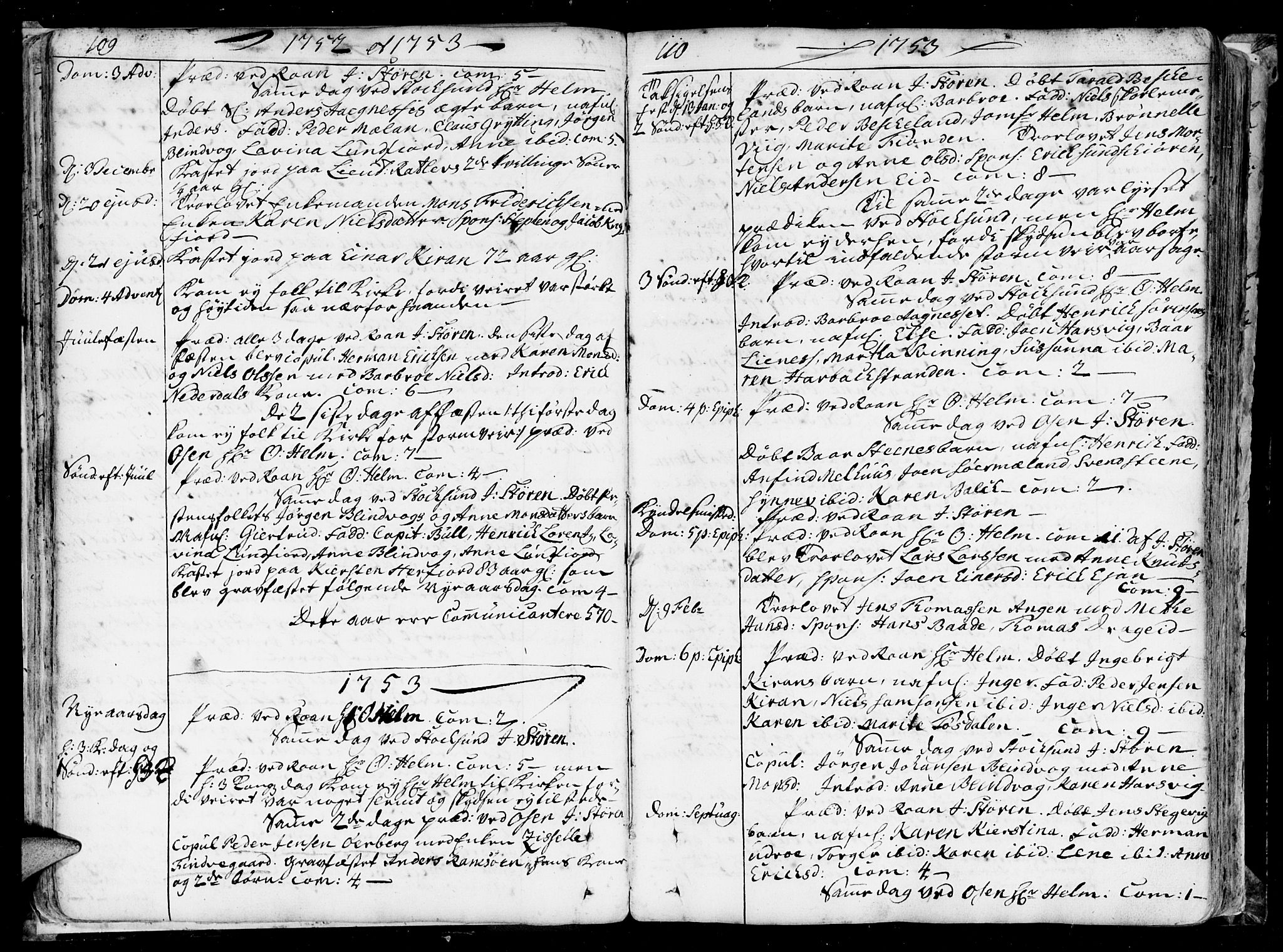 SAT, Ministerialprotokoller, klokkerbøker og fødselsregistre - Sør-Trøndelag, 657/L0700: Ministerialbok nr. 657A01, 1732-1801, s. 109-110