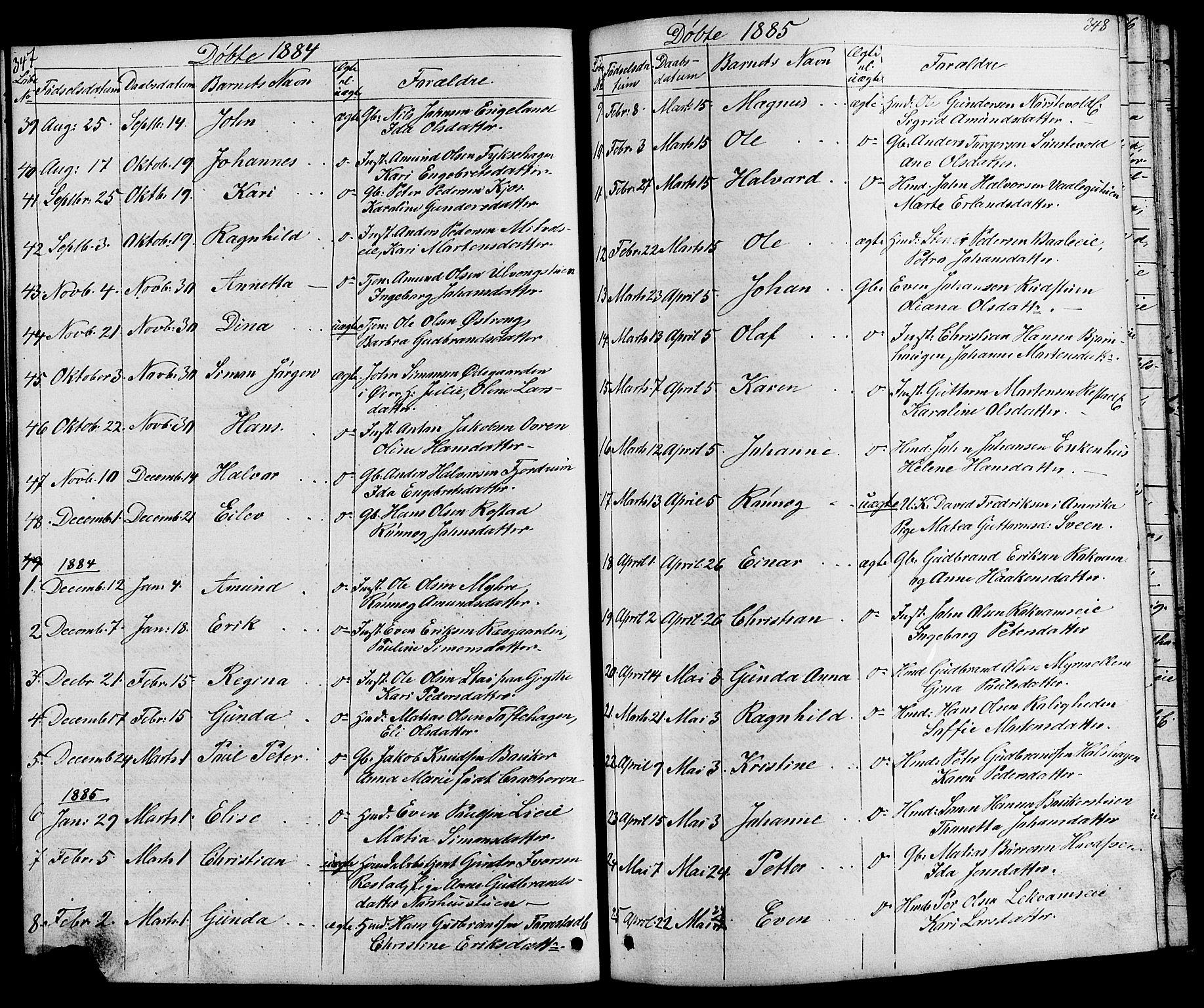 SAH, Østre Gausdal prestekontor, Klokkerbok nr. 1, 1863-1893, s. 347-348