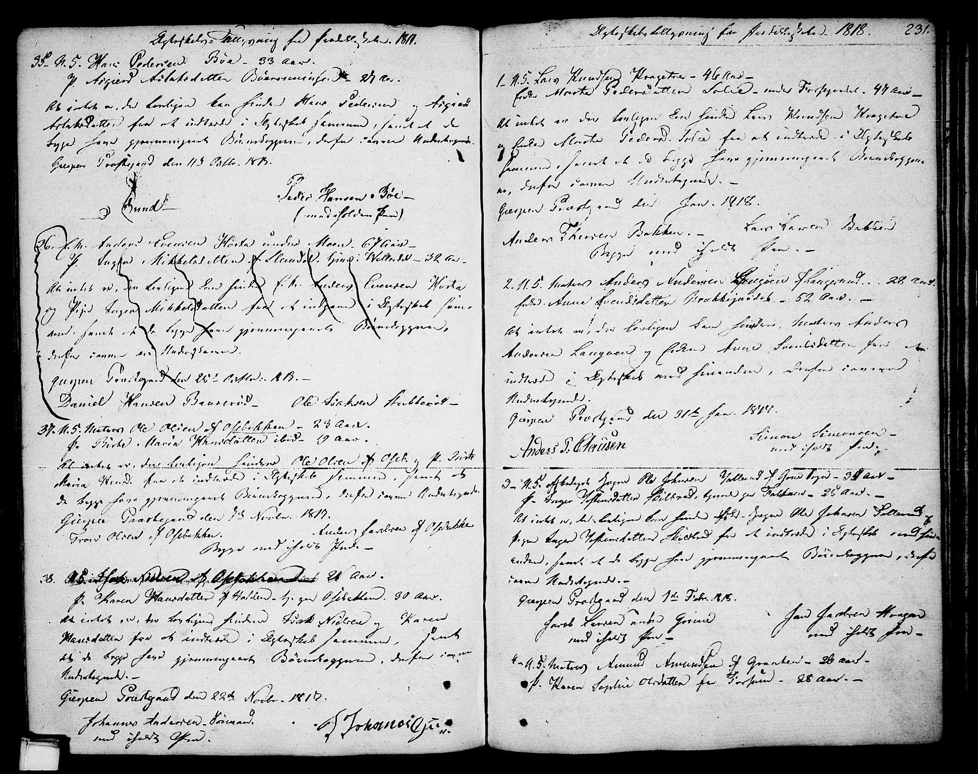 SAKO, Gjerpen kirkebøker, F/Fa/L0003: Ministerialbok nr. 3, 1796-1814, s. 231