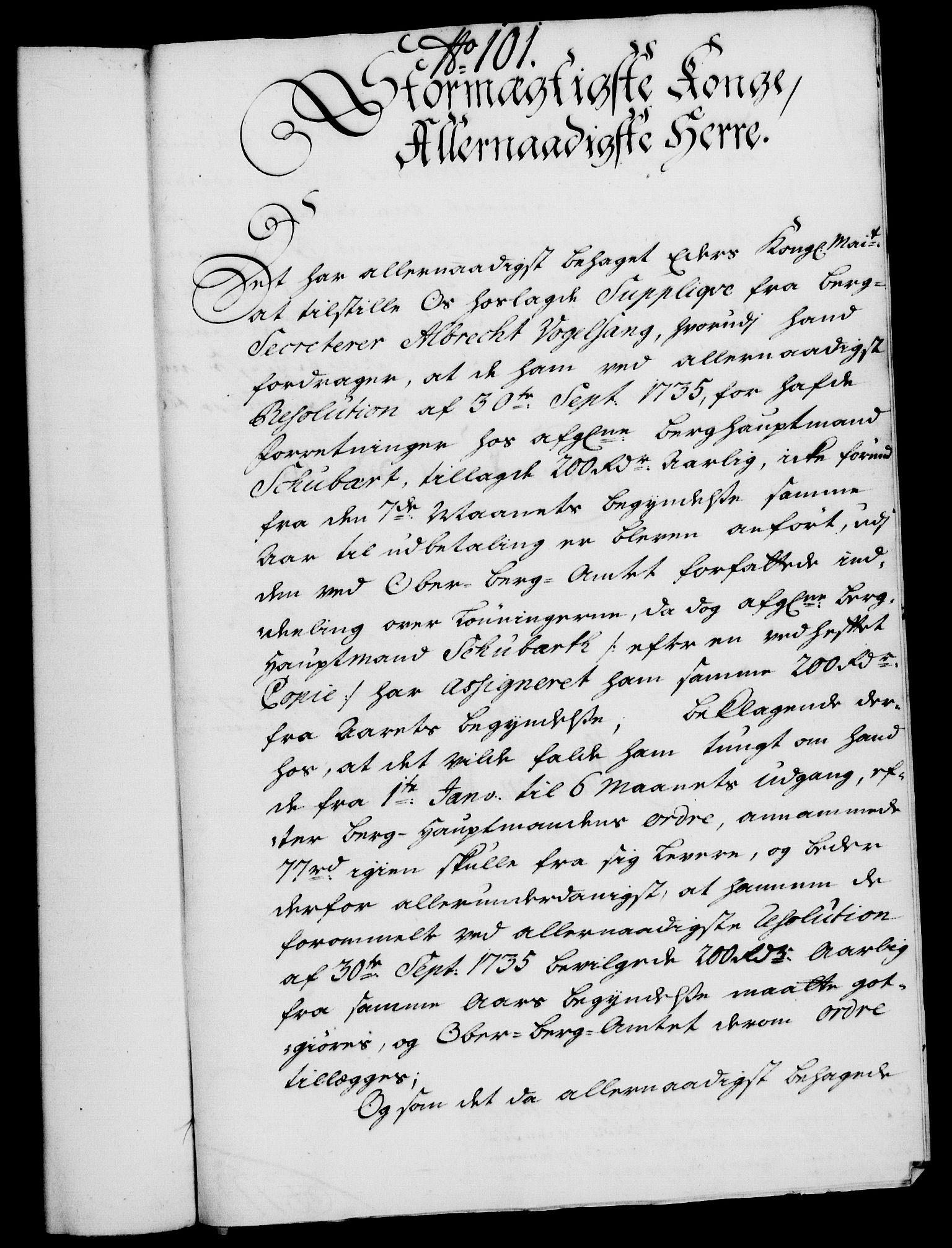 RA, Rentekammeret, Kammerkanselliet, G/Gf/Gfa/L0020: Norsk relasjons- og resolusjonsprotokoll (merket RK 52.20), 1737, s. 730