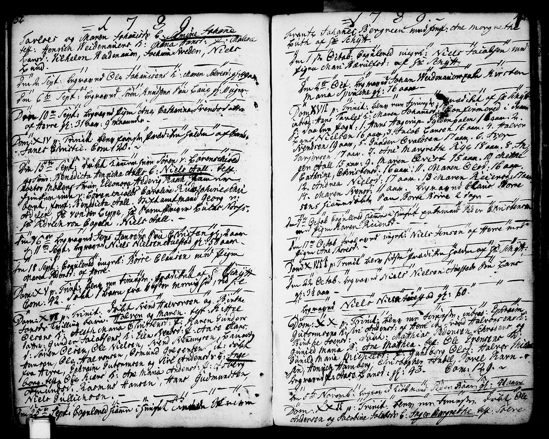 SAKO, Porsgrunn kirkebøker , F/Fa/L0002: Ministerialbok nr. 2, 1764-1814, s. 152-153