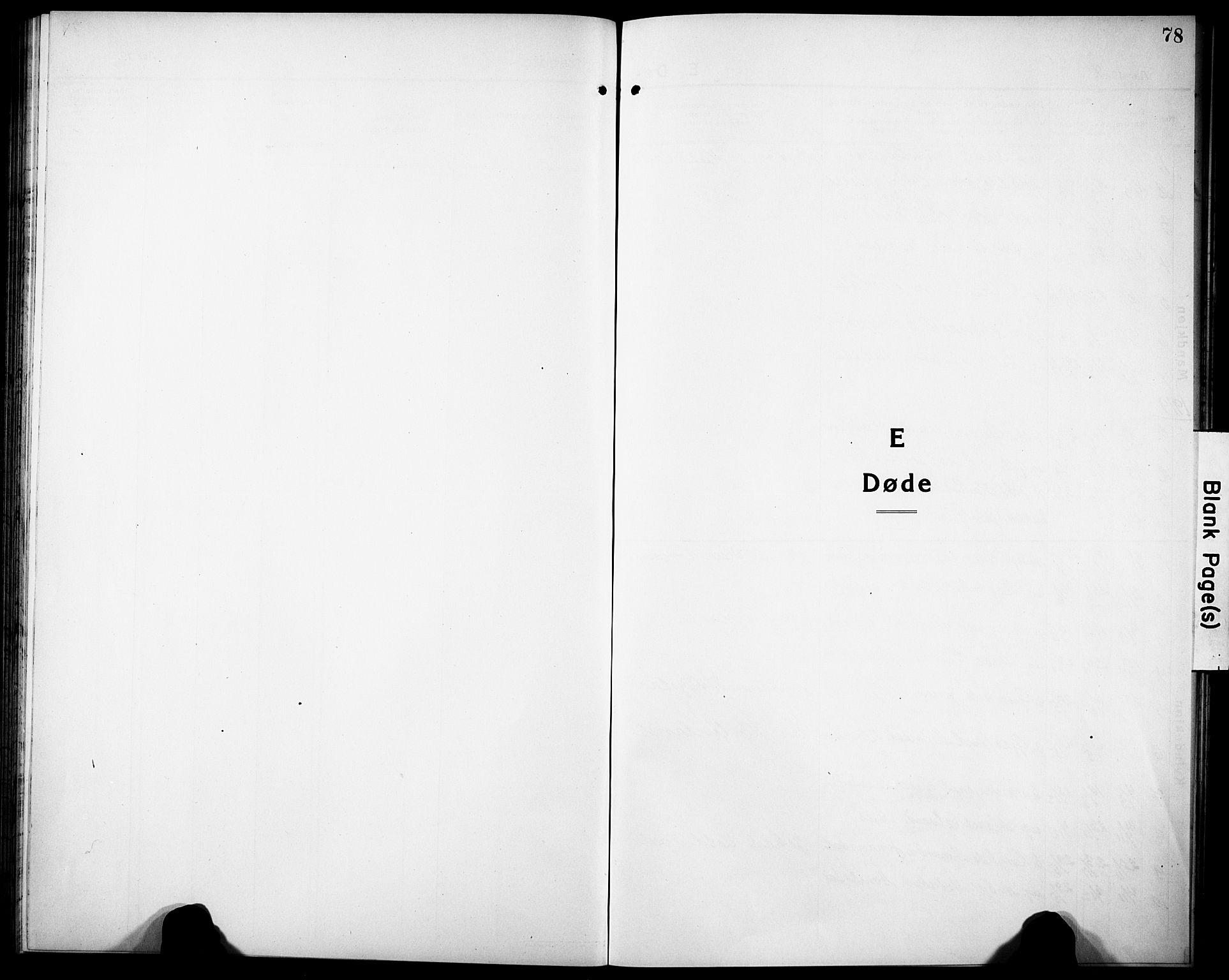 SAK, Herefoss sokneprestkontor, F/Fb/Fbb/L0004: Klokkerbok nr. B 4, 1917-1933, s. 78