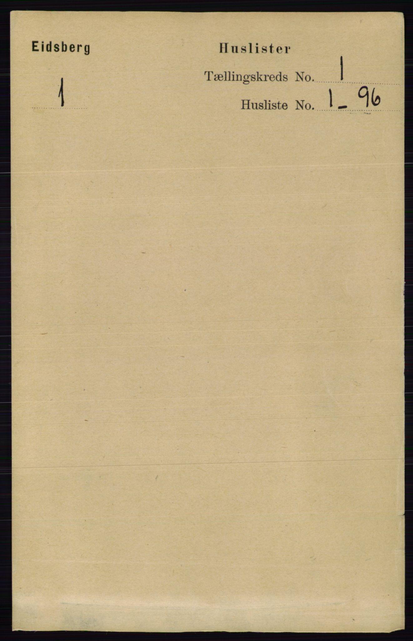 RA, Folketelling 1891 for 0125 Eidsberg herred, 1891, s. 33