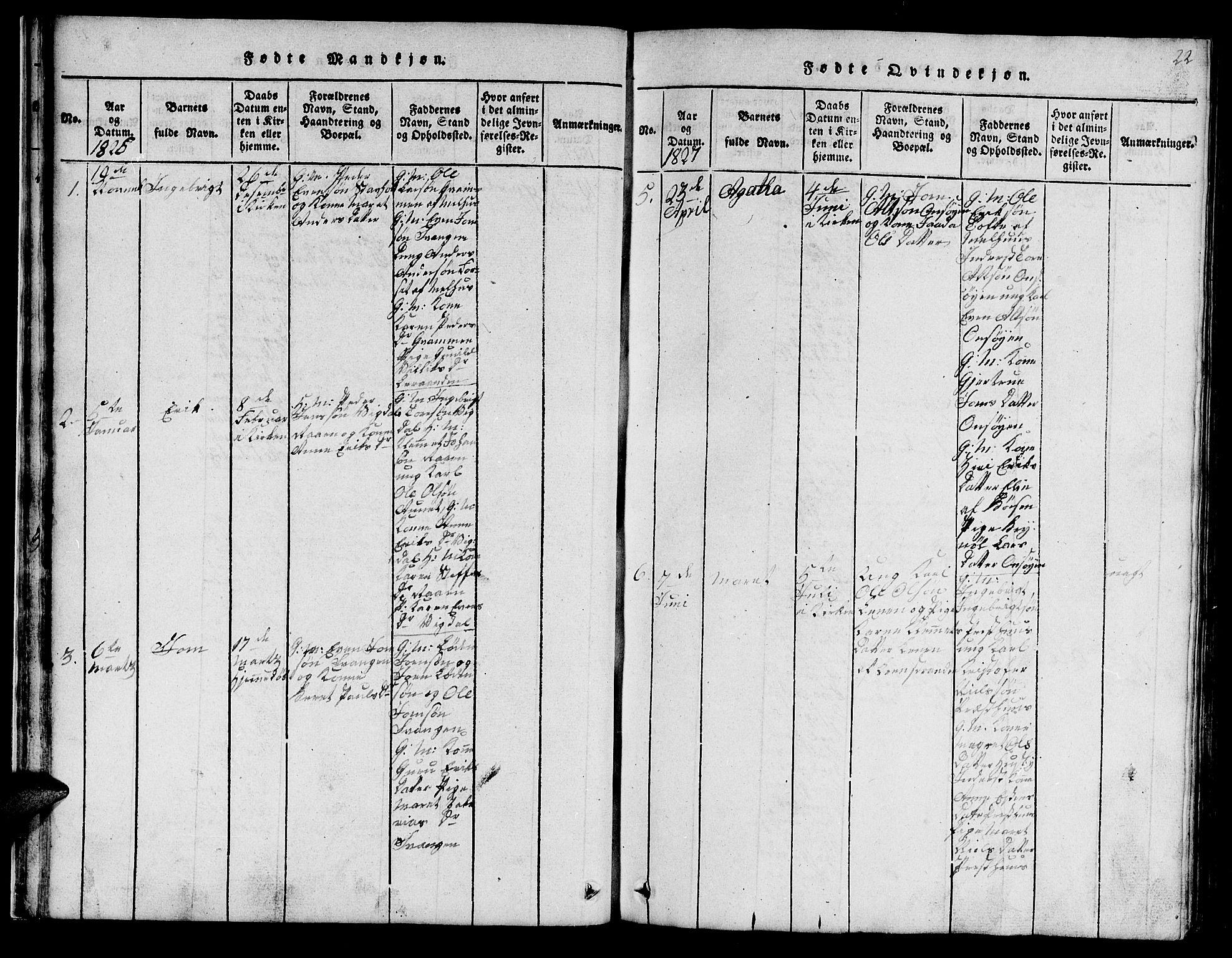 SAT, Ministerialprotokoller, klokkerbøker og fødselsregistre - Sør-Trøndelag, 666/L0788: Klokkerbok nr. 666C01, 1816-1847, s. 22