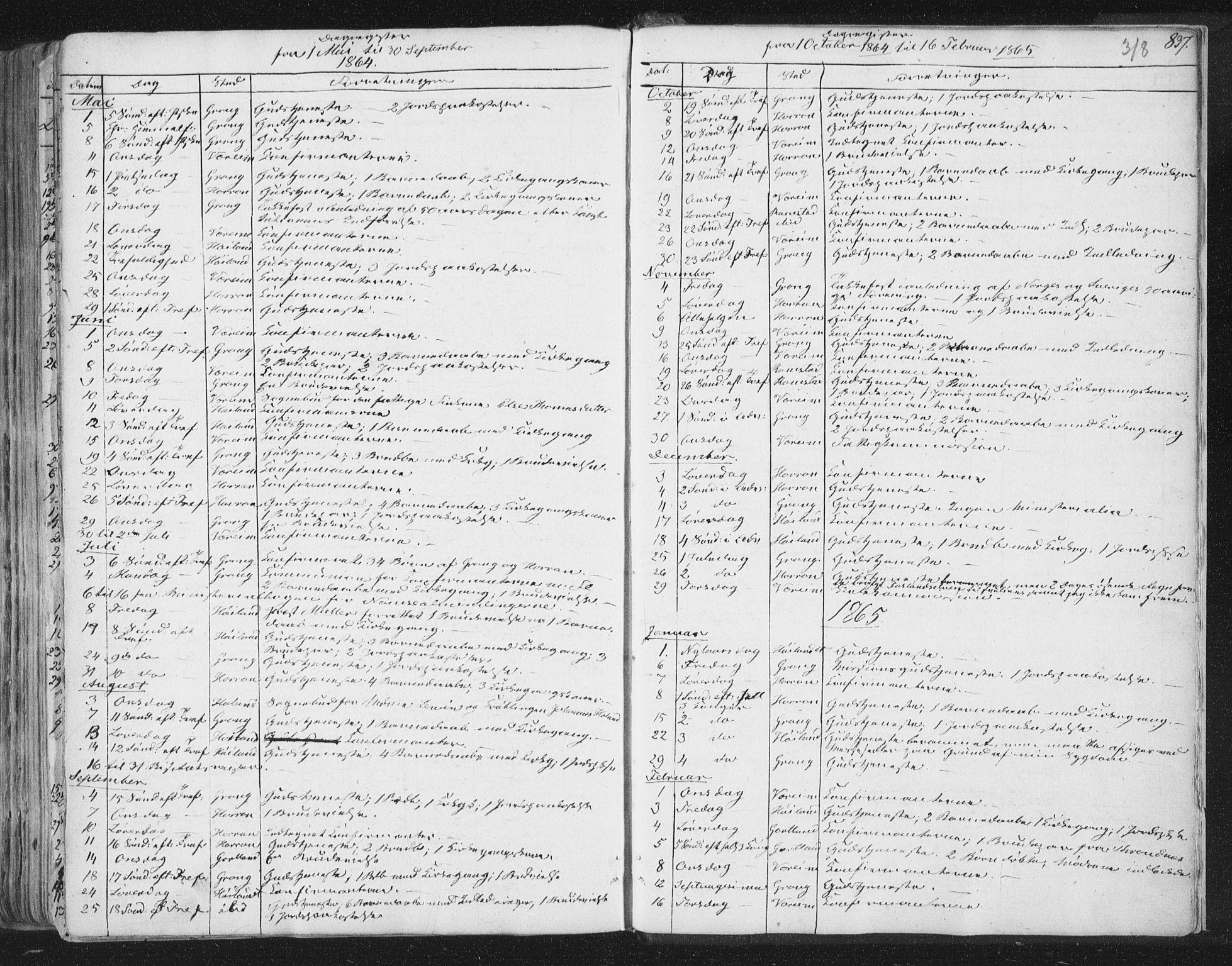 SAT, Ministerialprotokoller, klokkerbøker og fødselsregistre - Nord-Trøndelag, 758/L0513: Ministerialbok nr. 758A02 /1, 1839-1868, s. 318