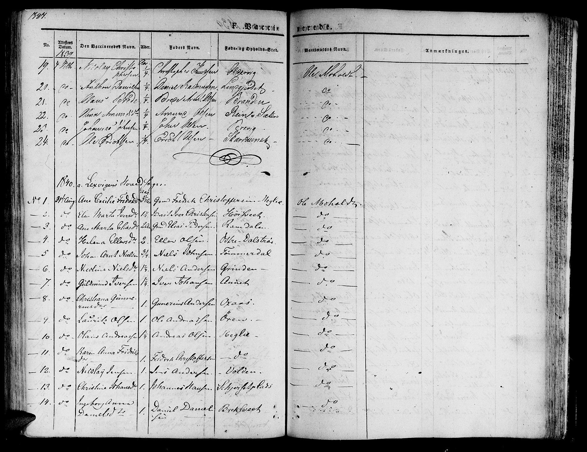 SAT, Ministerialprotokoller, klokkerbøker og fødselsregistre - Nord-Trøndelag, 701/L0006: Ministerialbok nr. 701A06, 1825-1841, s. 387