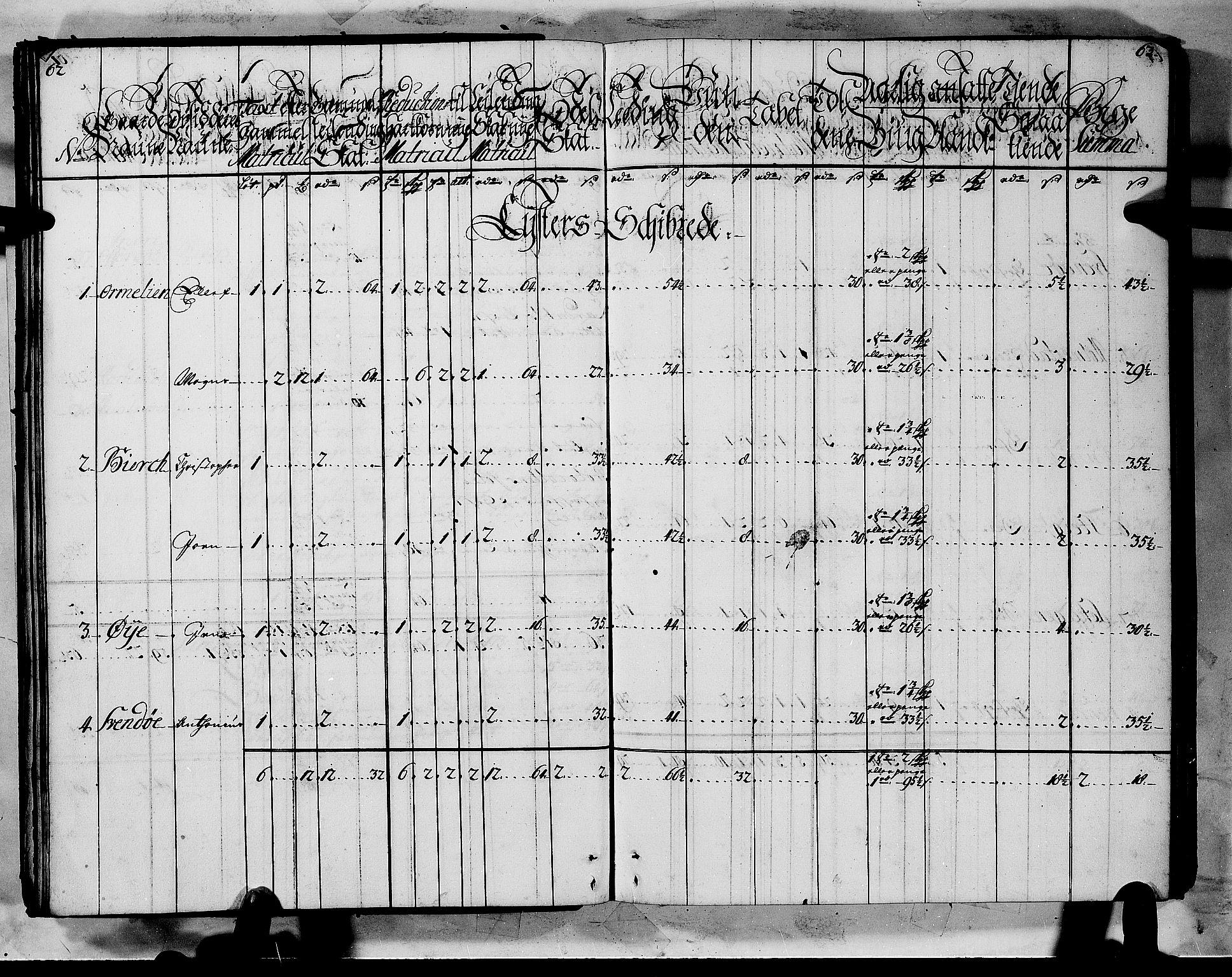 RA, Rentekammeret inntil 1814, Realistisk ordnet avdeling, N/Nb/Nbf/L0144: Indre Sogn matrikkelprotokoll, 1723, s. 62-63