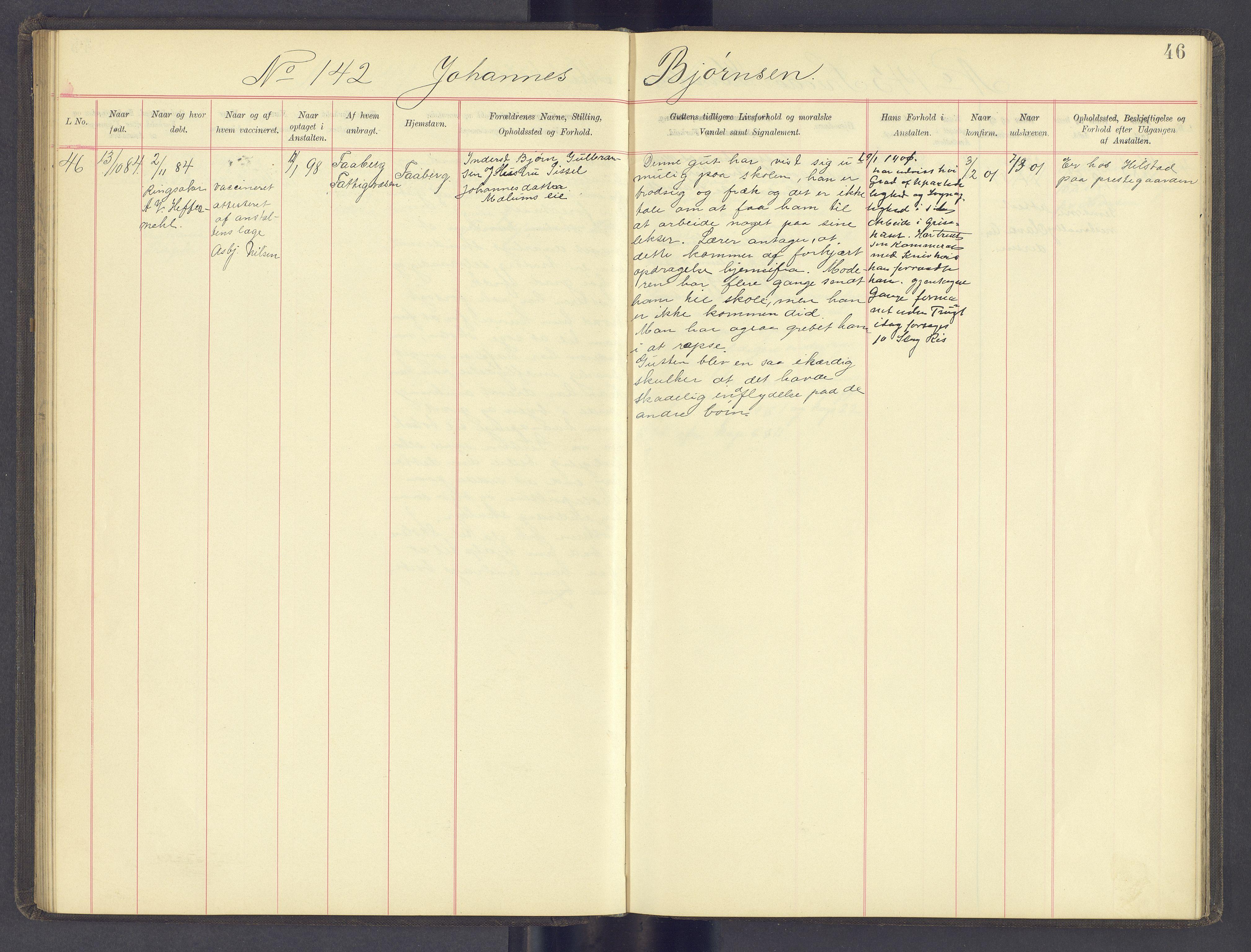 SAH, Toftes Gave, F/Fc/L0005: Elevprotokoll, 1897-1900, s. 46