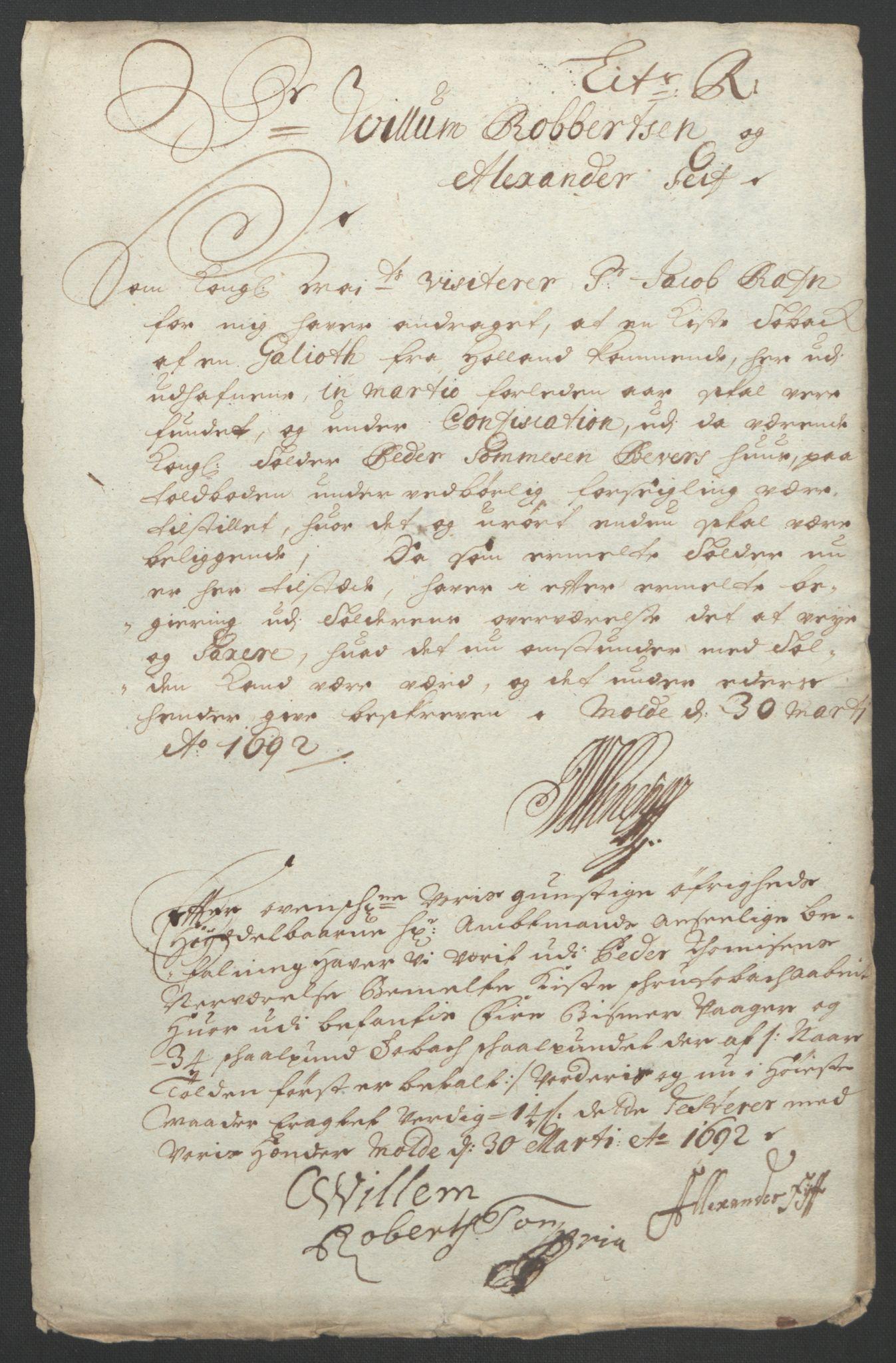 RA, Rentekammeret inntil 1814, Reviderte regnskaper, Fogderegnskap, R55/L3650: Fogderegnskap Romsdal, 1692, s. 172