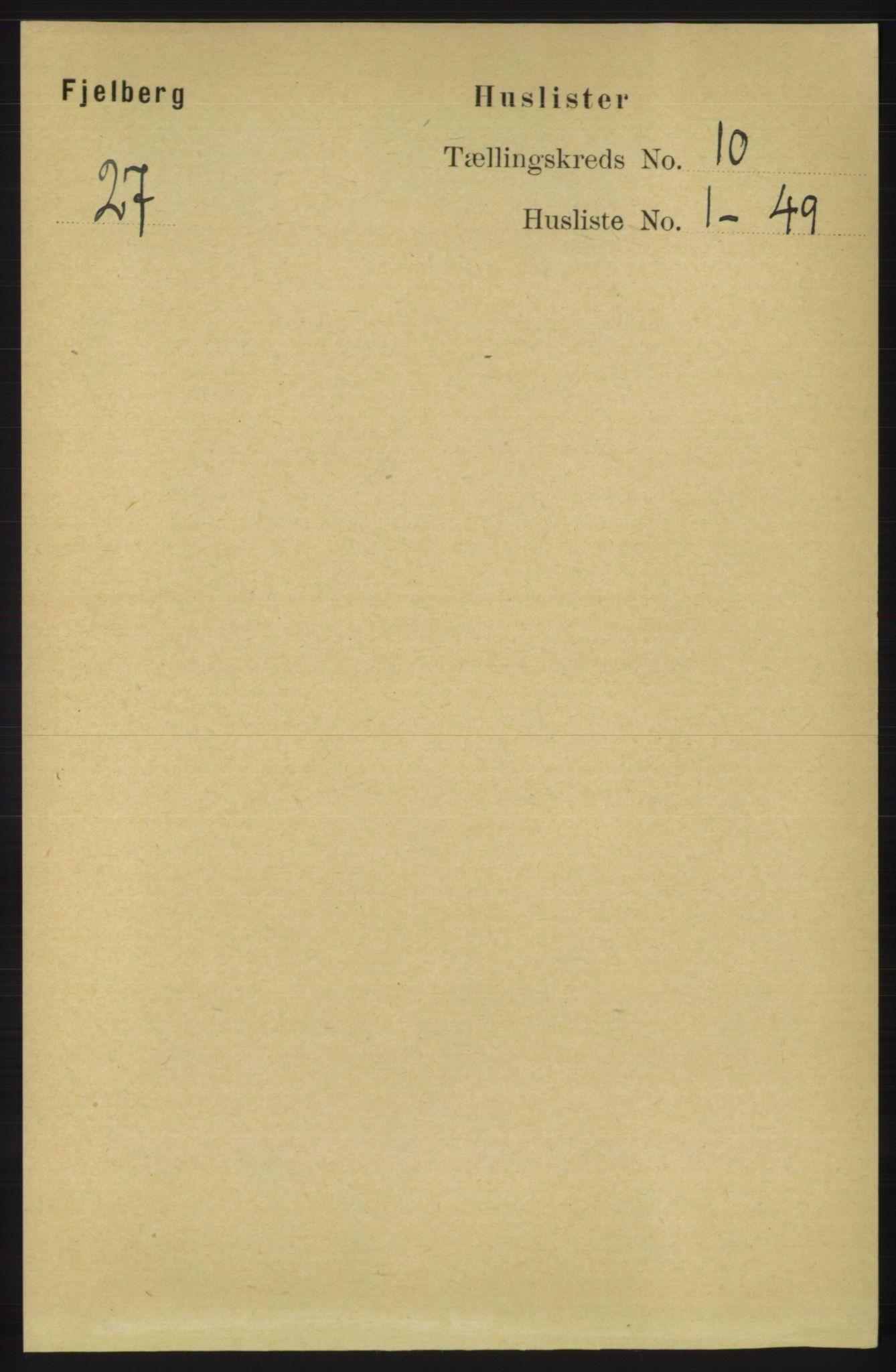 RA, Folketelling 1891 for 1213 Fjelberg herred, 1891, s. 3734