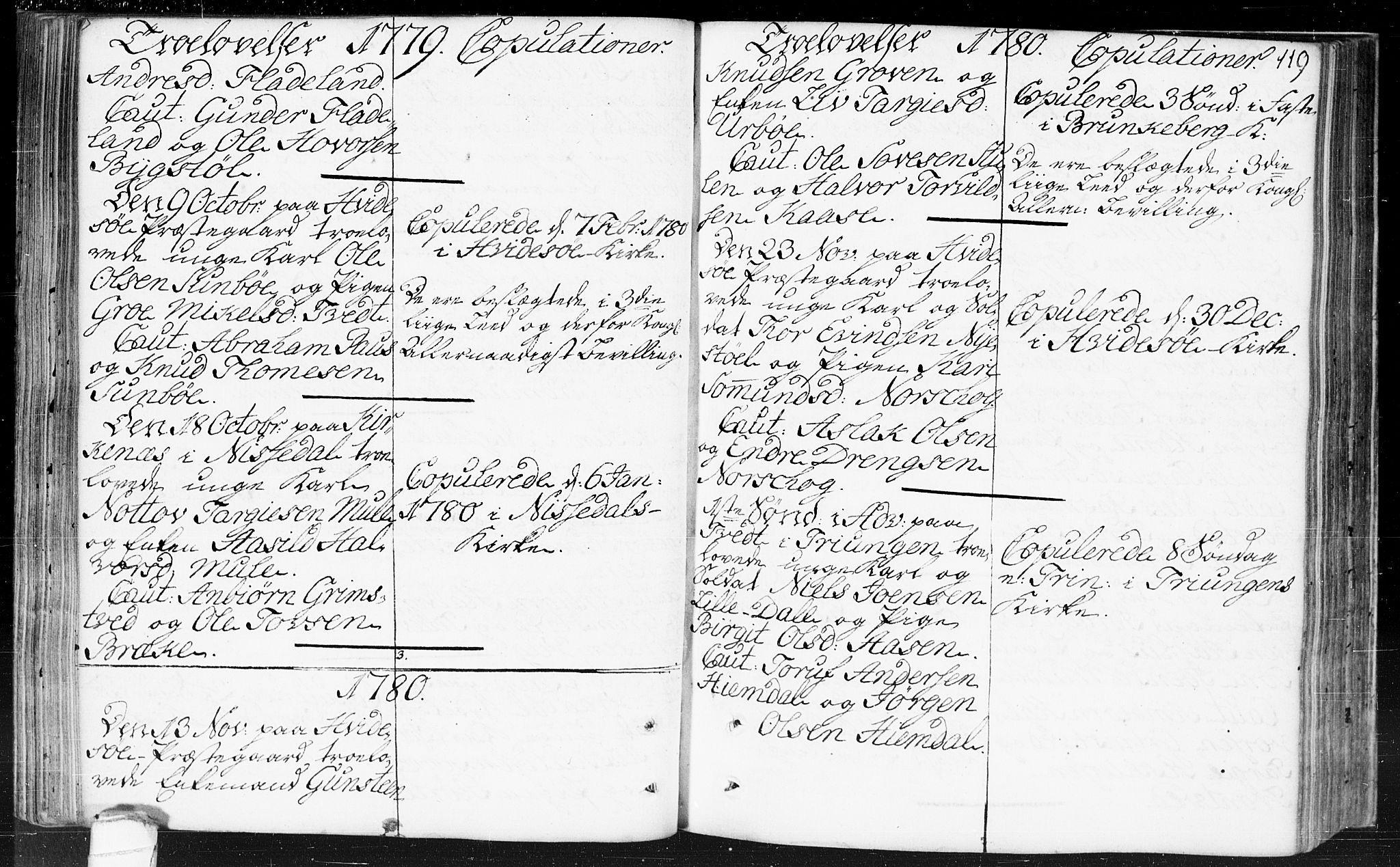 SAKO, Kviteseid kirkebøker, F/Fa/L0002: Ministerialbok nr. I 2, 1773-1786, s. 119
