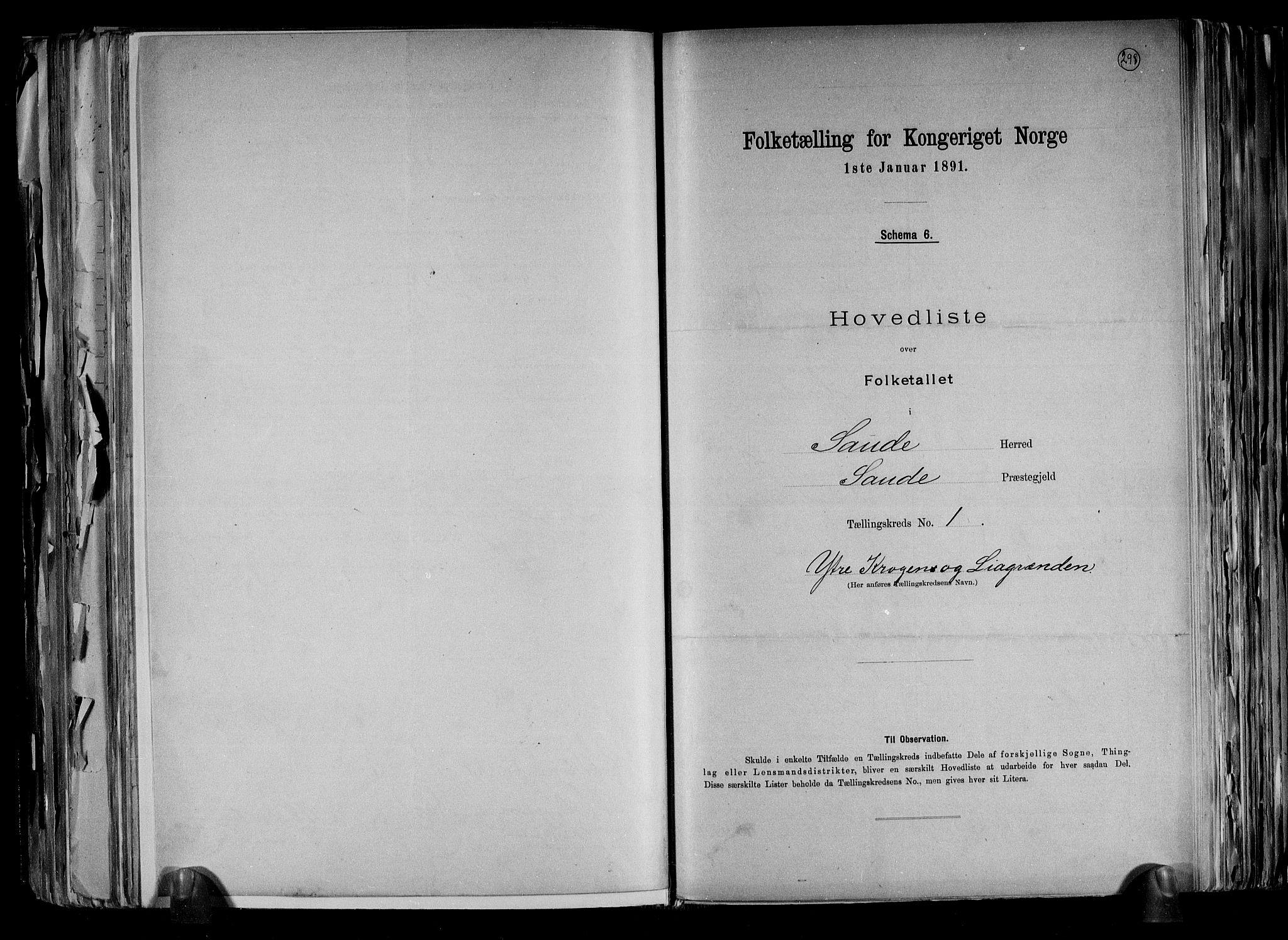 RA, Folketelling 1891 for 0822 Sauherad herred, 1891, s. 4