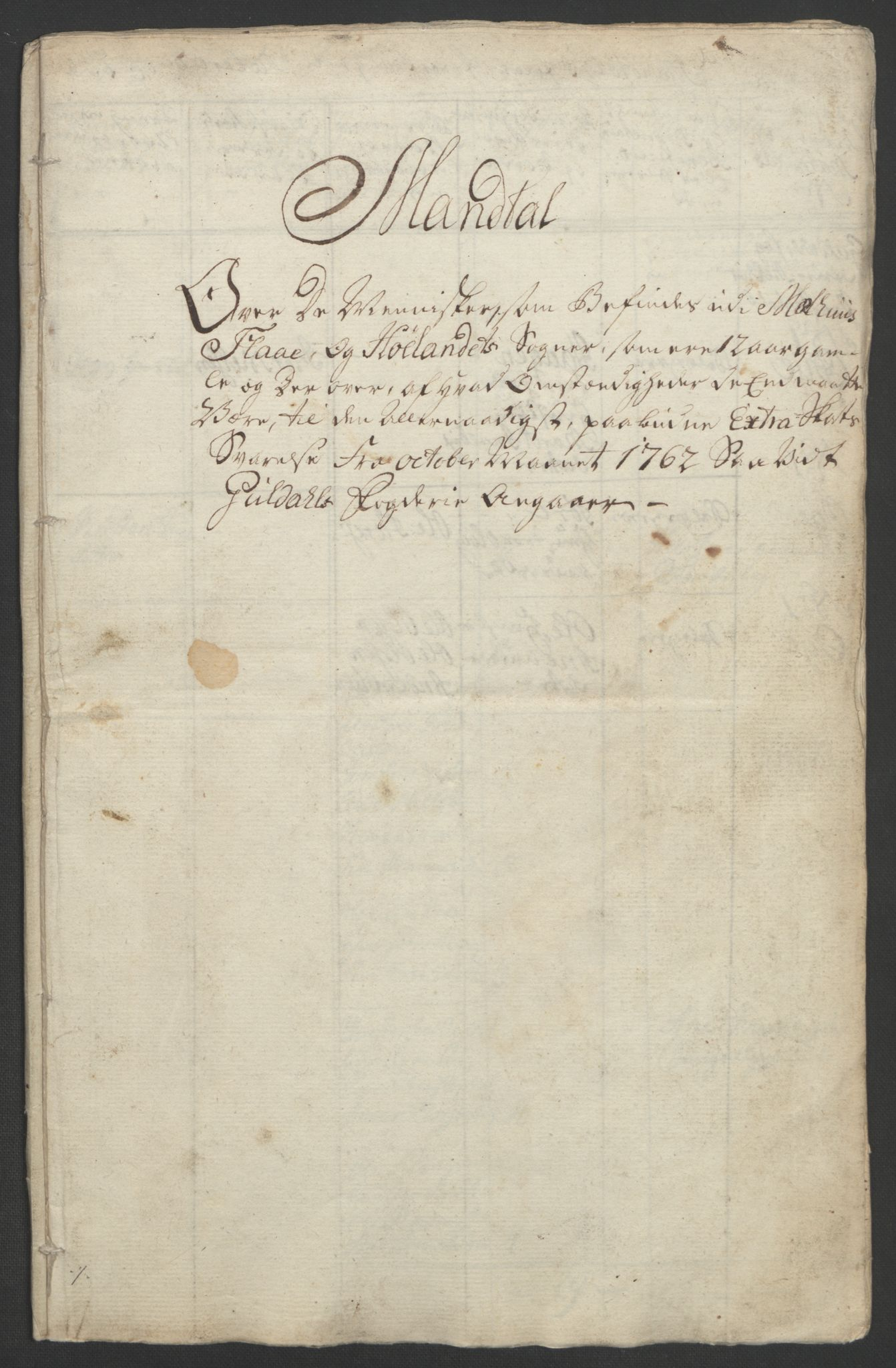 RA, Rentekammeret inntil 1814, Realistisk ordnet avdeling, Ol/L0021: [Gg 10]: Ekstraskatten, 23.09.1762. Orkdal og Gauldal, 1762-1767, s. 207