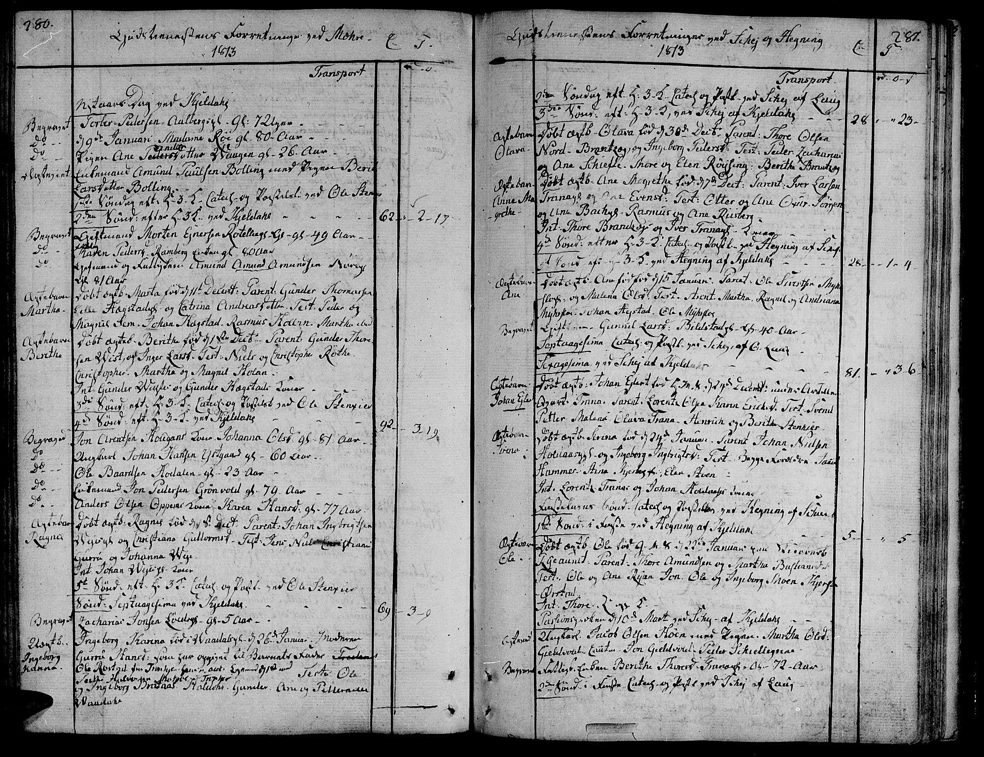 SAT, Ministerialprotokoller, klokkerbøker og fødselsregistre - Nord-Trøndelag, 735/L0332: Ministerialbok nr. 735A03, 1795-1816, s. 280-281