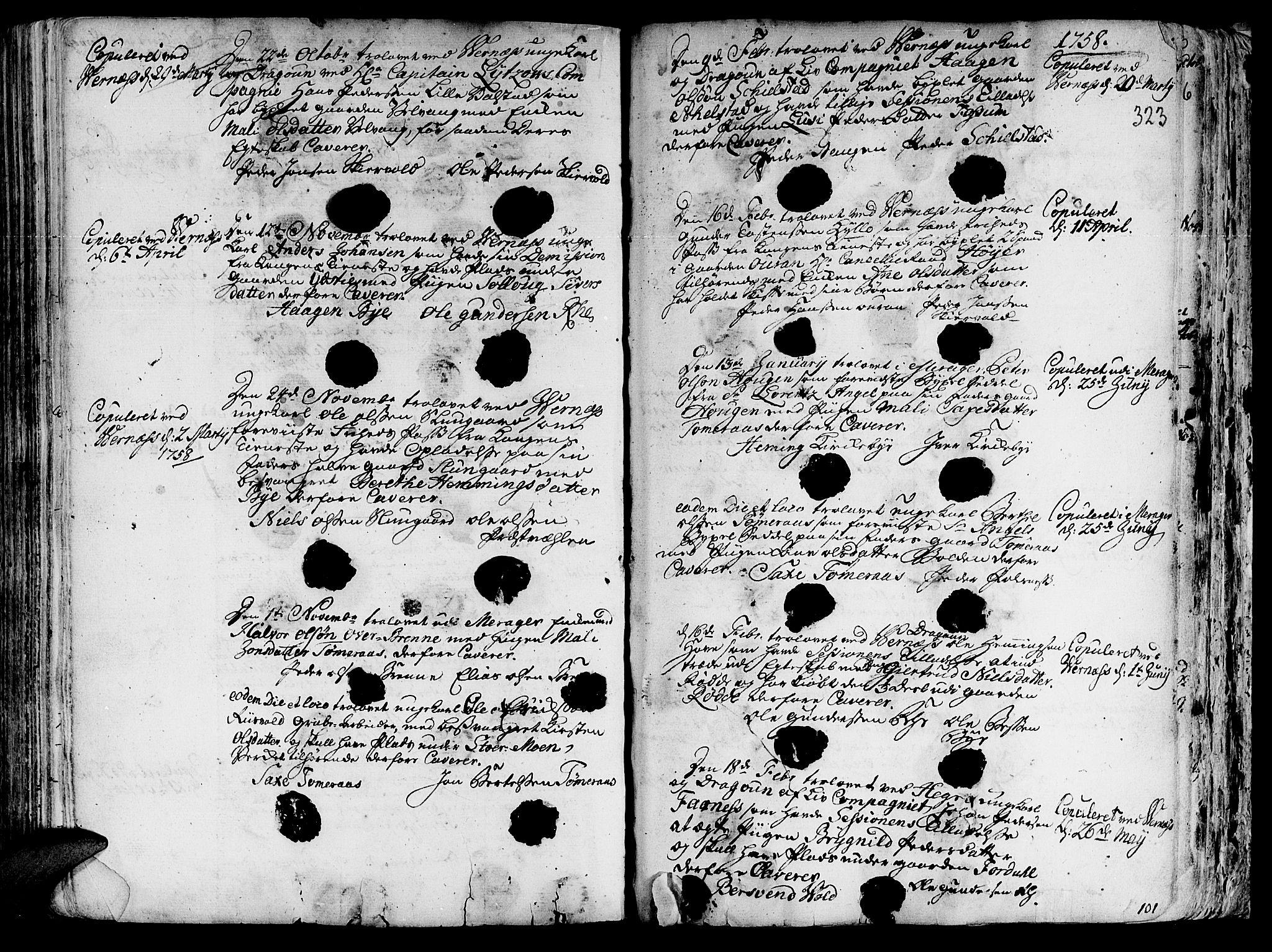 SAT, Ministerialprotokoller, klokkerbøker og fødselsregistre - Nord-Trøndelag, 709/L0057: Ministerialbok nr. 709A05, 1755-1780, s. 323