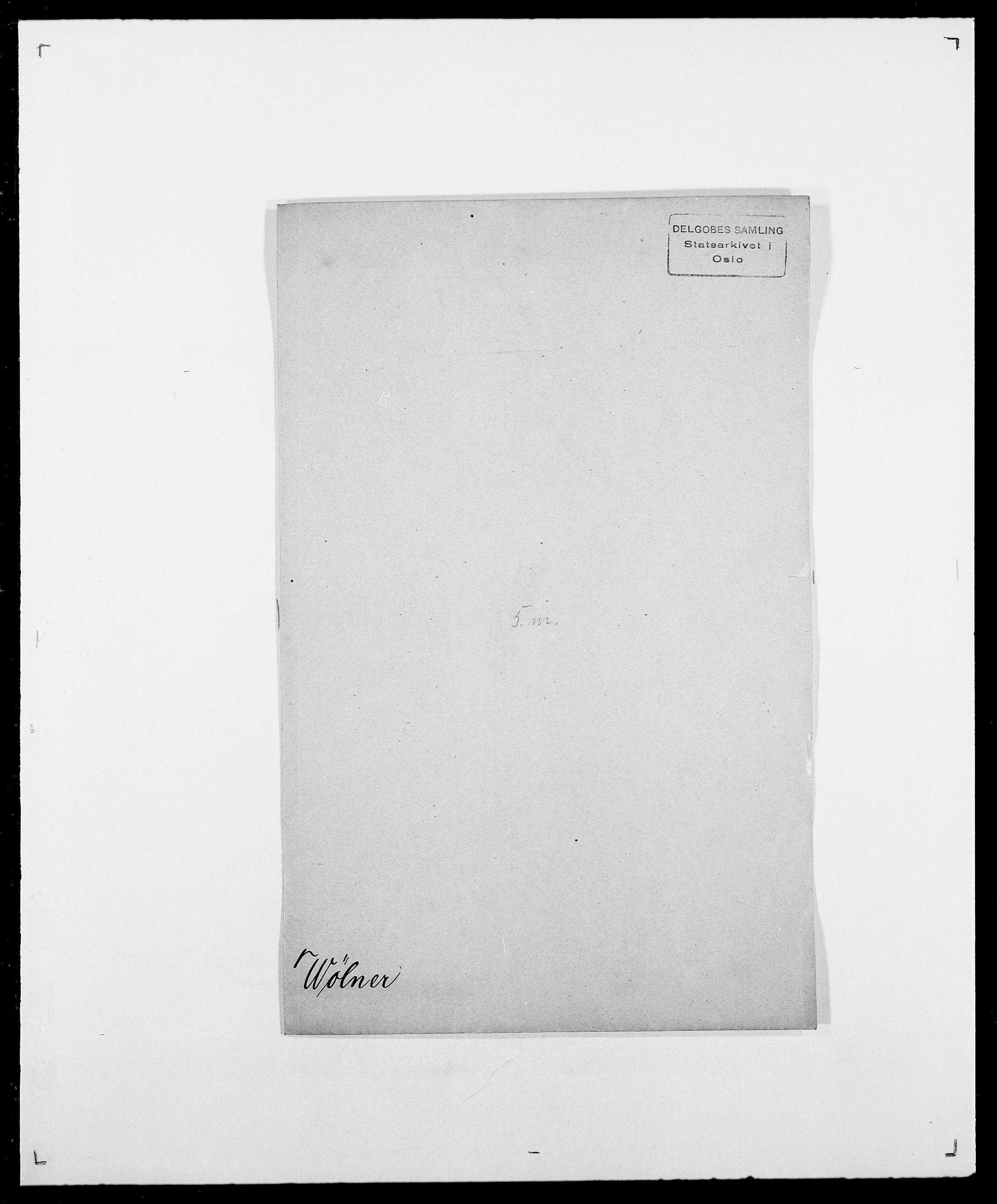SAO, Delgobe, Charles Antoine - samling, D/Da/L0043: Wulfsberg - v. Zanten, s. 40
