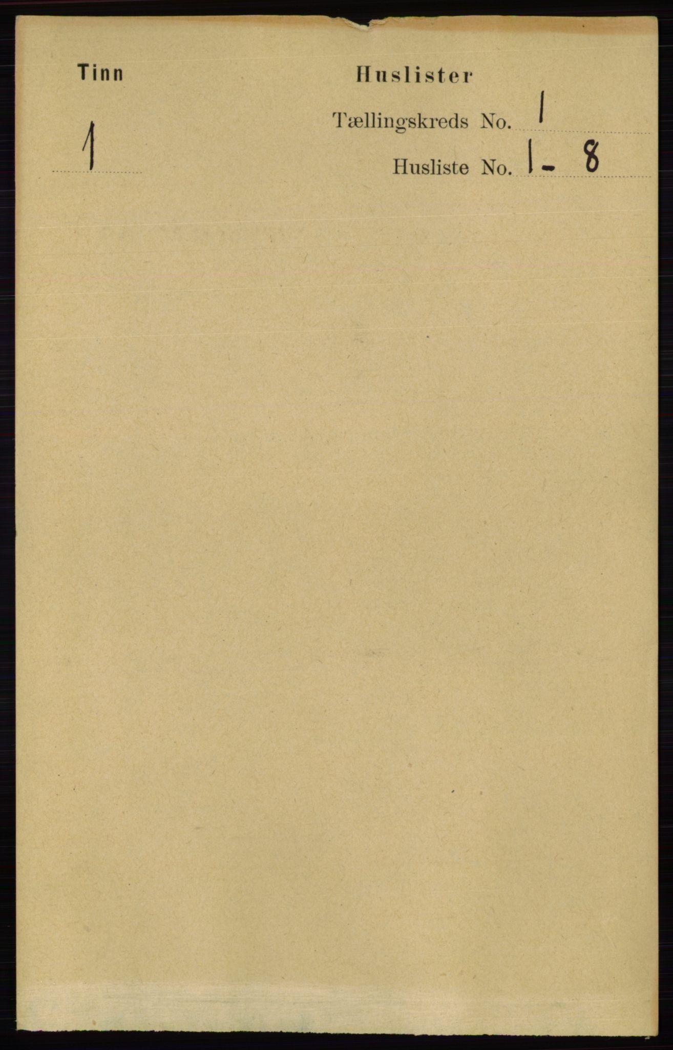 RA, Folketelling 1891 for 0826 Tinn herred, 1891, s. 36