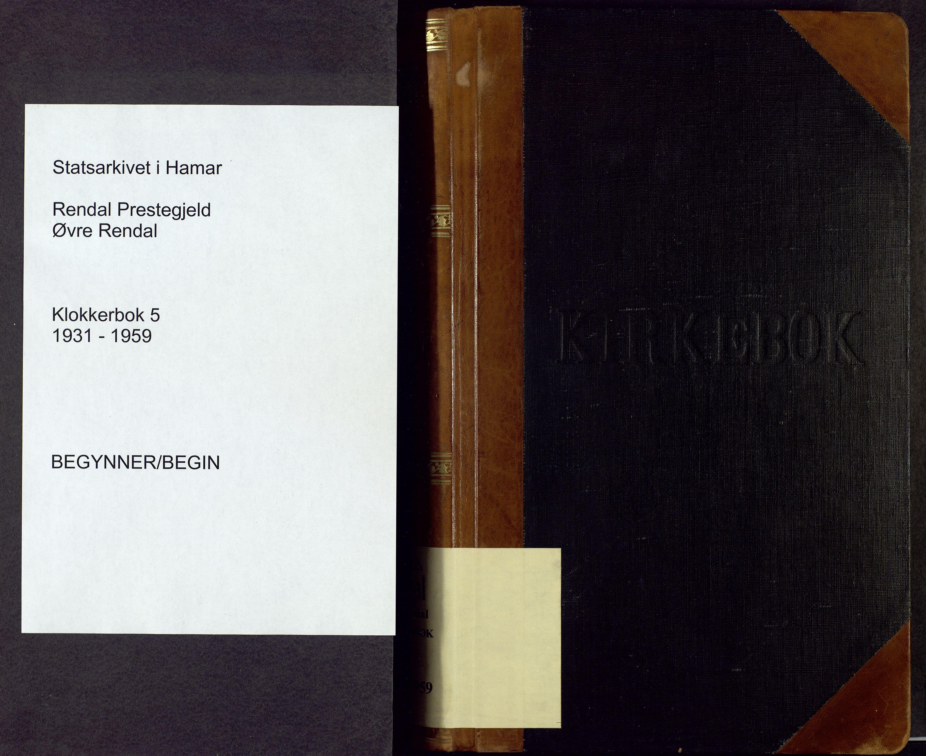 SAH, Rendalen prestekontor, H/Ha/Hab/L0005: Klokkerbok nr. 5, 1931-1959