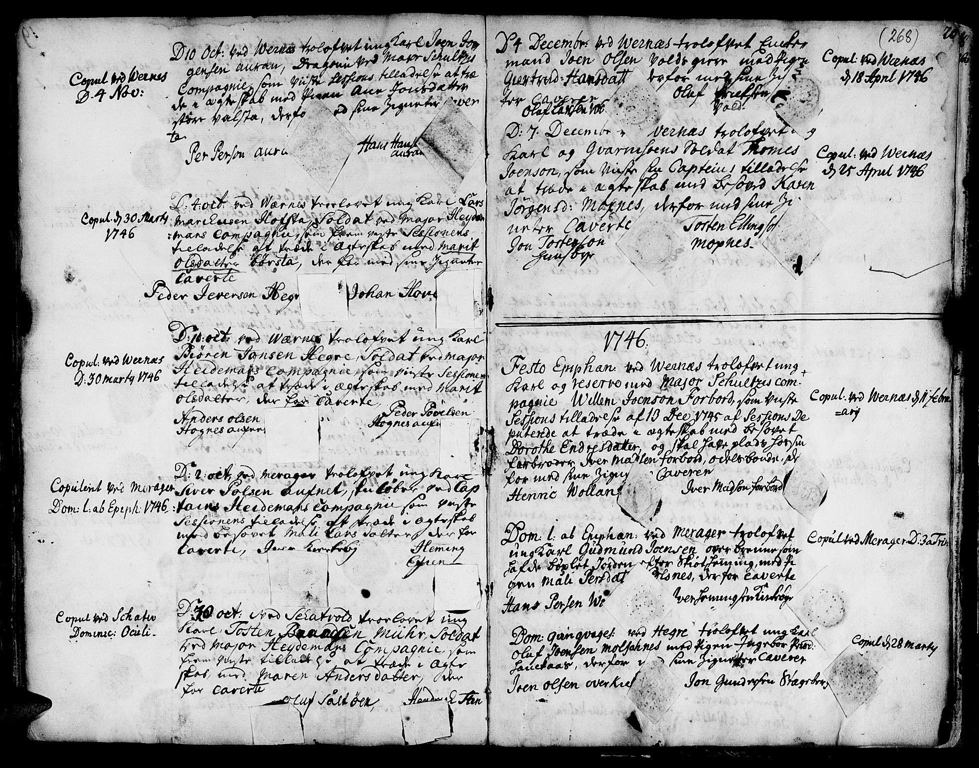 SAT, Ministerialprotokoller, klokkerbøker og fødselsregistre - Nord-Trøndelag, 709/L0056: Ministerialbok nr. 709A04, 1740-1756, s. 268