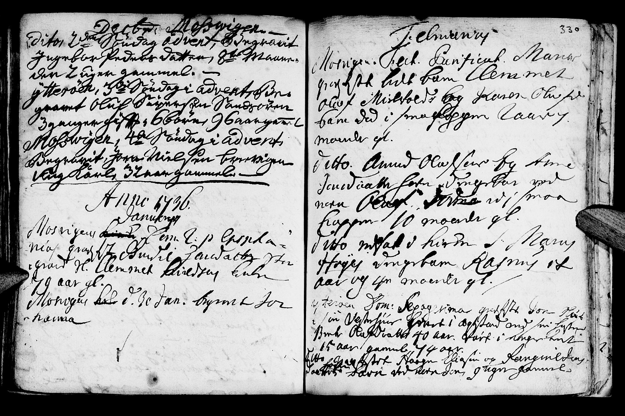 SAT, Ministerialprotokoller, klokkerbøker og fødselsregistre - Nord-Trøndelag, 722/L0215: Ministerialbok nr. 722A02, 1718-1755, s. 330
