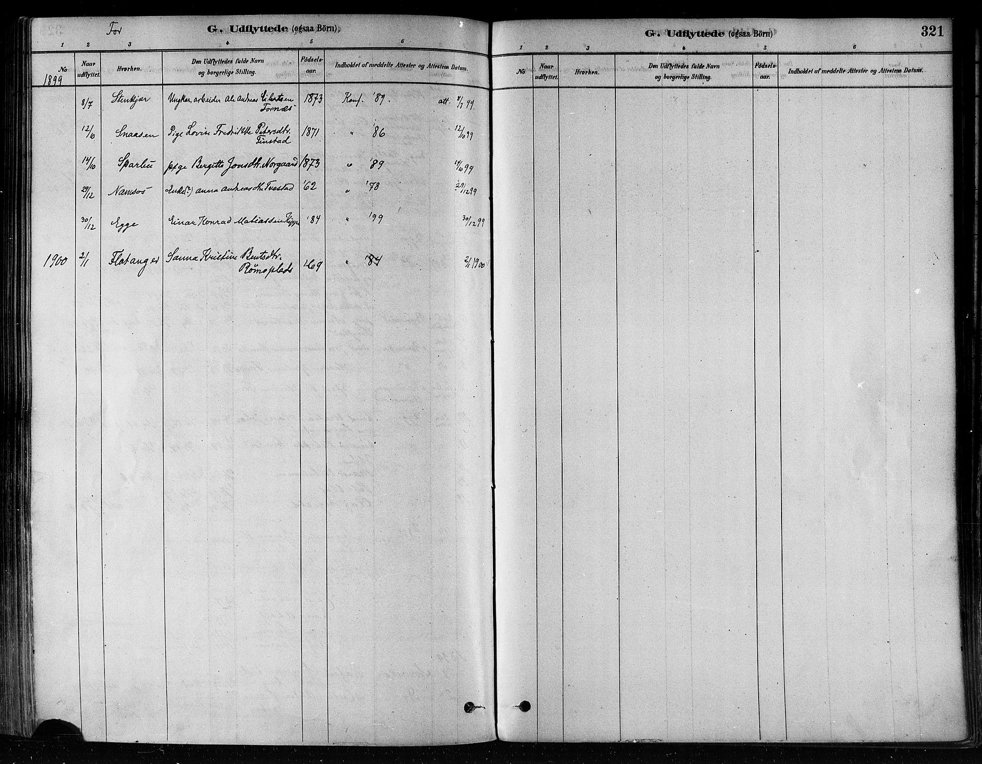 SAT, Ministerialprotokoller, klokkerbøker og fødselsregistre - Nord-Trøndelag, 746/L0448: Ministerialbok nr. 746A07 /1, 1878-1900, s. 321