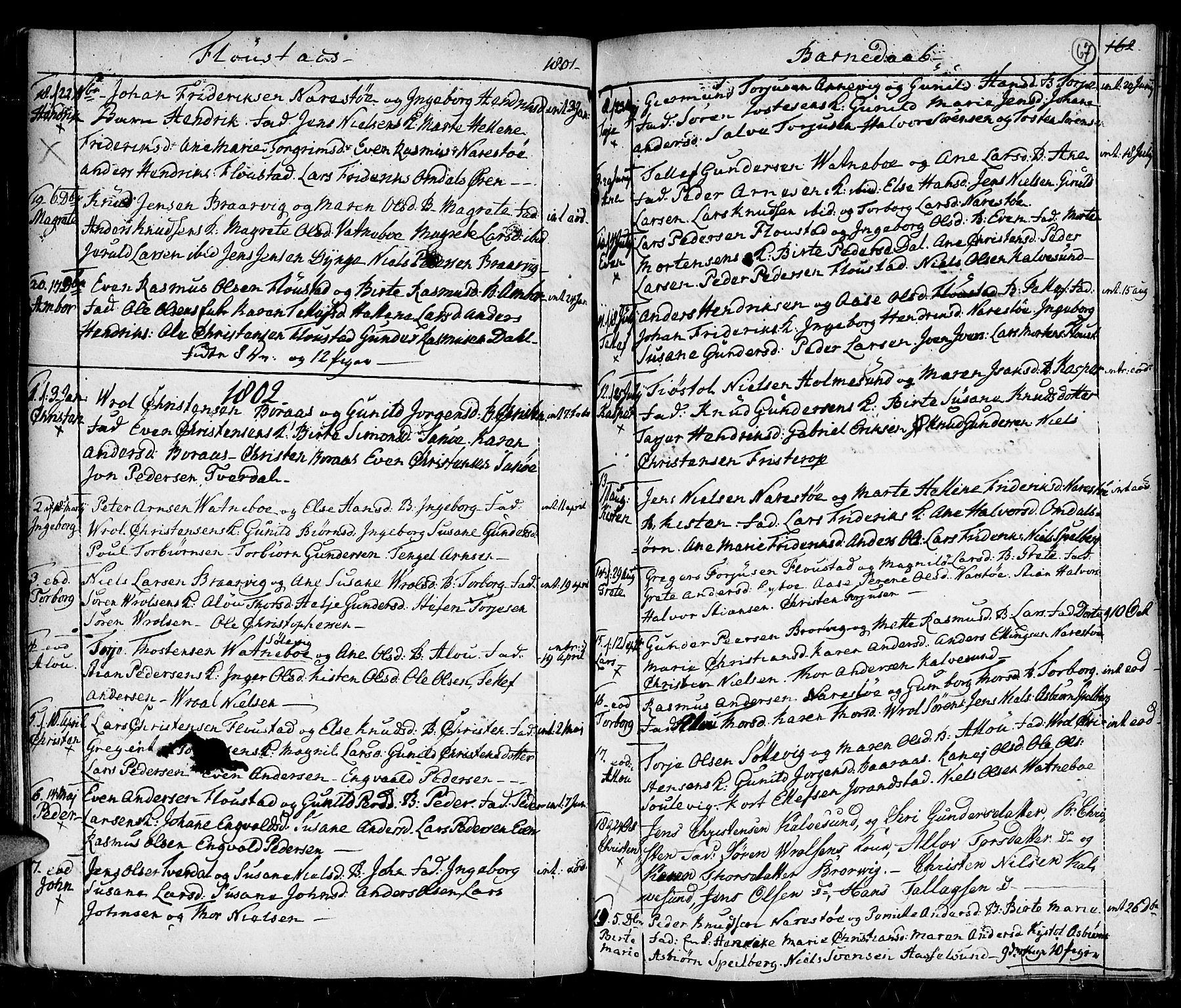 SAK, Holt sokneprestkontor, F/Fa/L0001: Ministerialbok nr. A 1 /4, 1721-1812, s. 67
