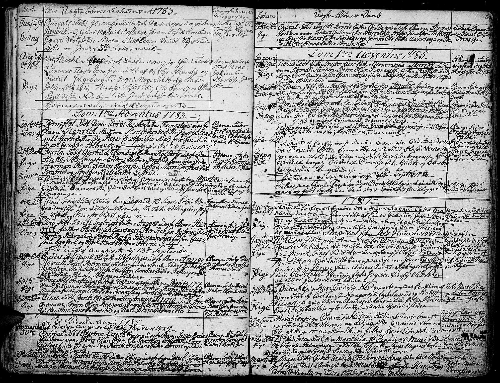 SAH, Aurdal prestekontor, Ministerialbok nr. 6, 1781-1804, s. 124