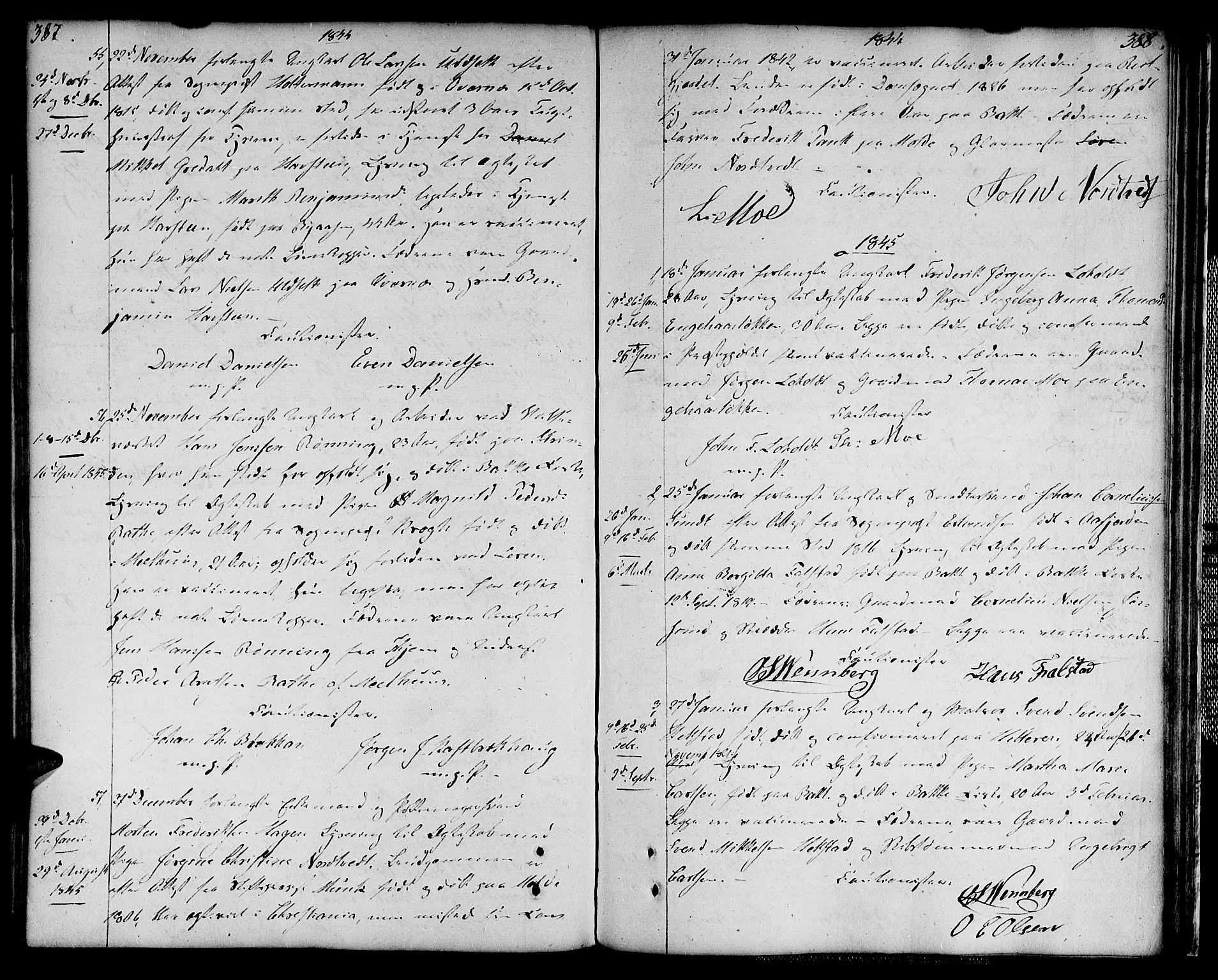 SAT, Ministerialprotokoller, klokkerbøker og fødselsregistre - Sør-Trøndelag, 604/L0181: Ministerialbok nr. 604A02, 1798-1817, s. 387-388