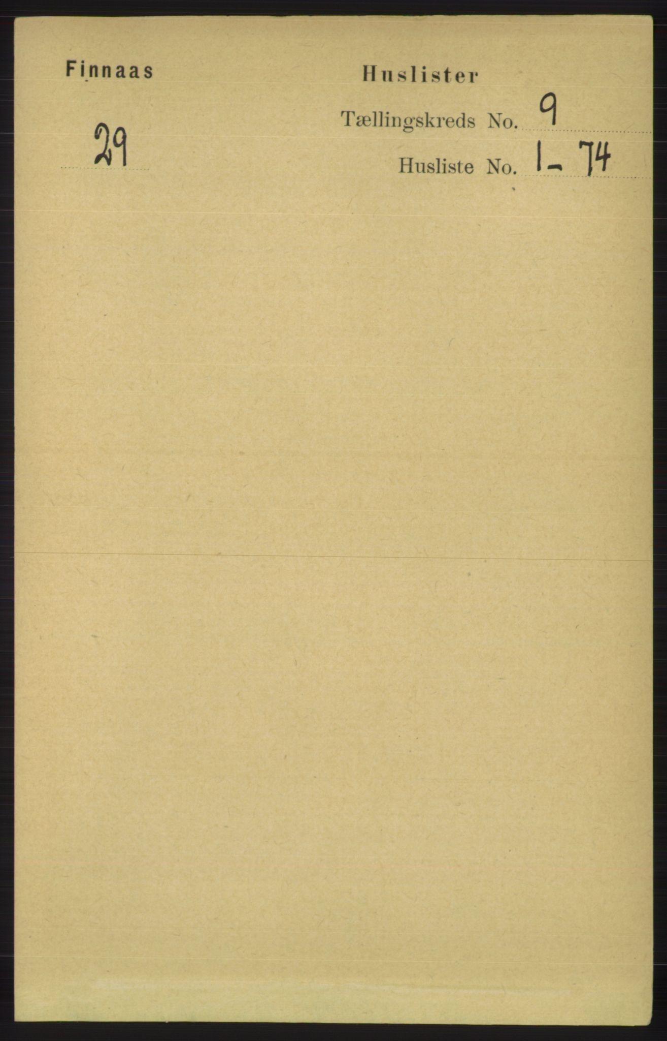 RA, Folketelling 1891 for 1218 Finnås herred, 1891, s. 3855