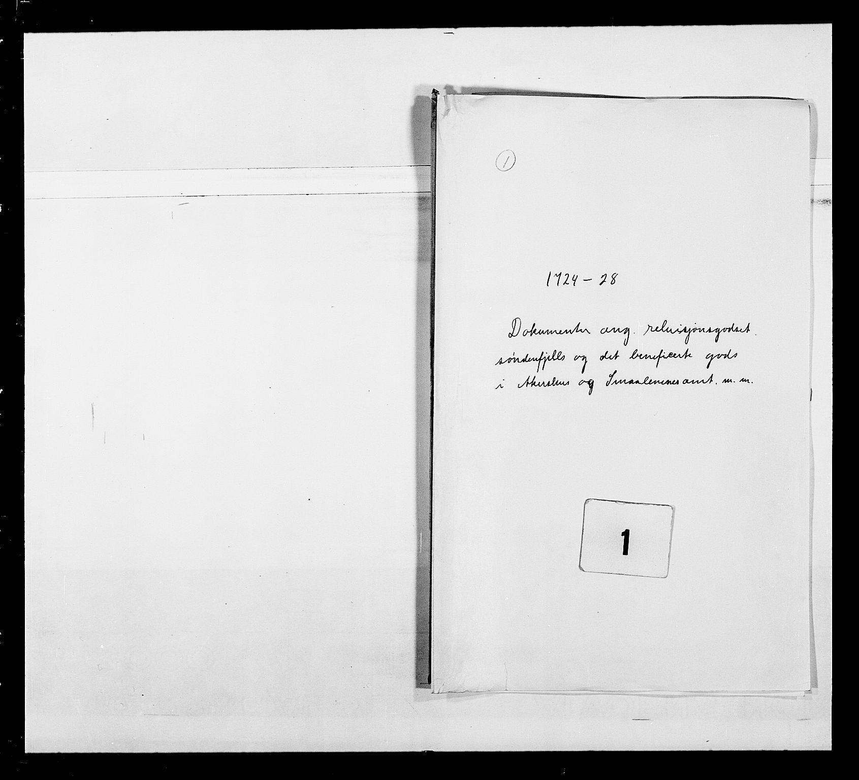 RA, Stattholderembetet 1572-1771, Ek/L0043: Jordebøker o.a. 1720-1728 vedkommende krongodset:, 1724-1728, s. 1
