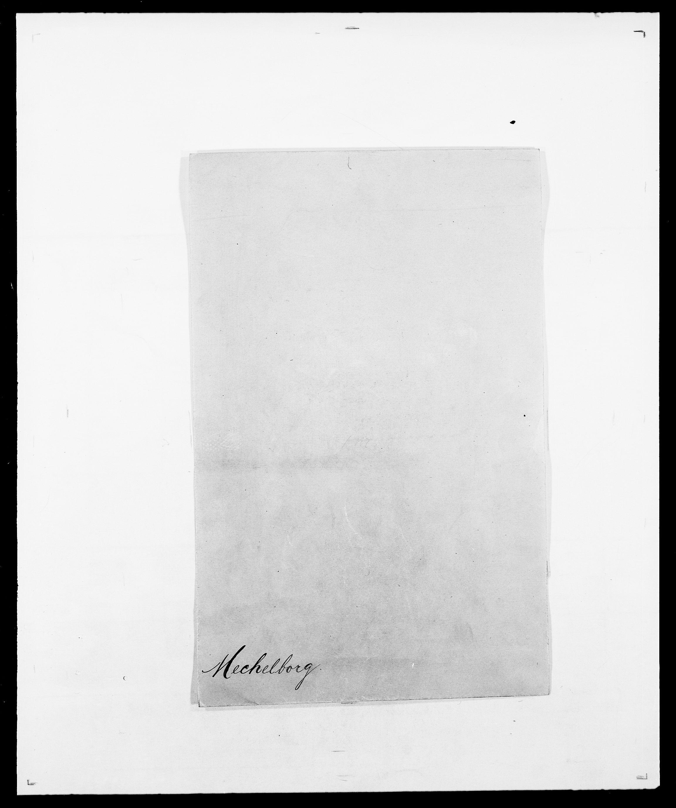 SAO, Delgobe, Charles Antoine - samling, D/Da/L0026: Mechelby - Montoppidan, s. 1
