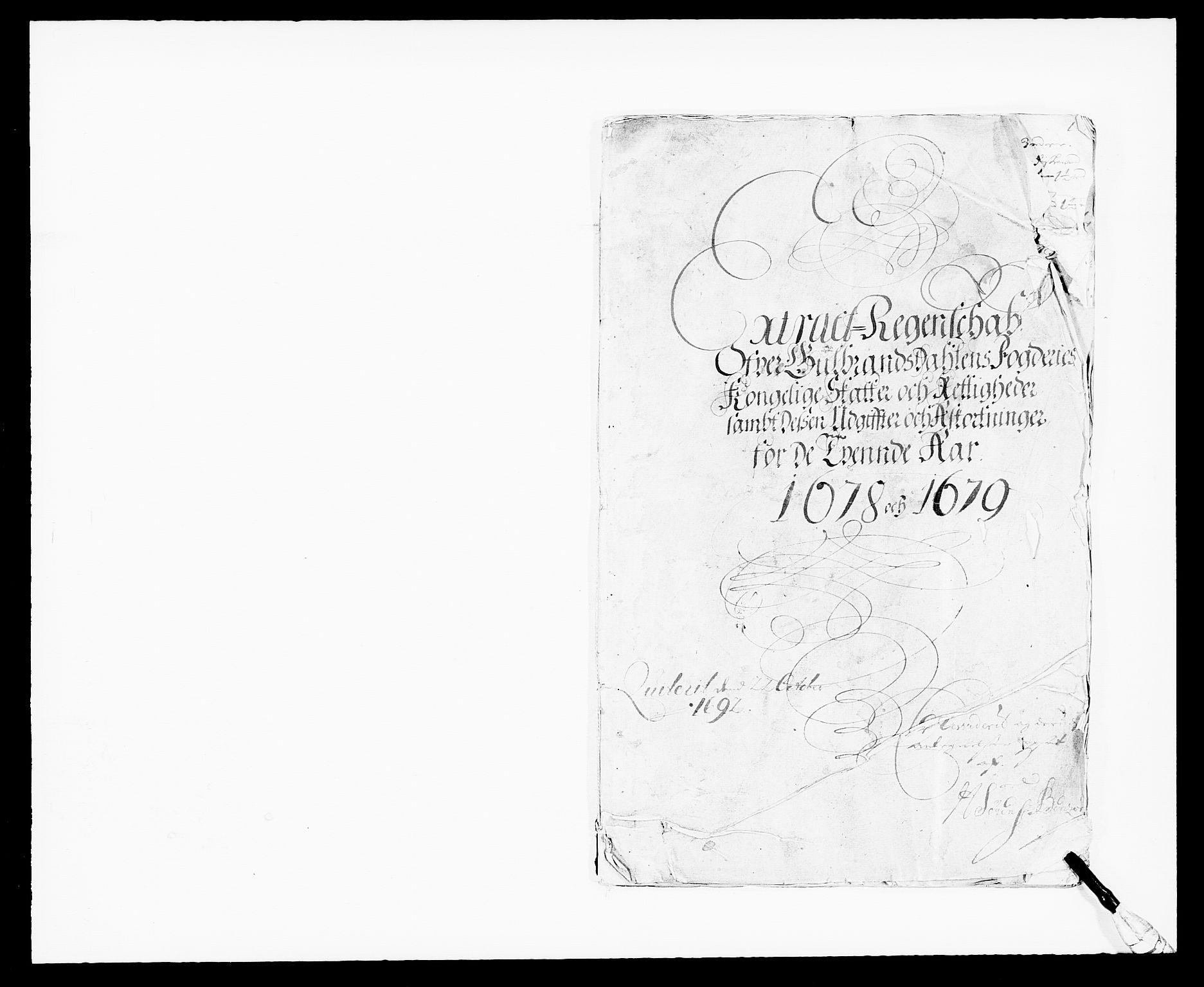 RA, Rentekammeret inntil 1814, Reviderte regnskaper, Fogderegnskap, R17/L1152: Fogderegnskap Gudbrandsdal, 1678-1679, s. 2
