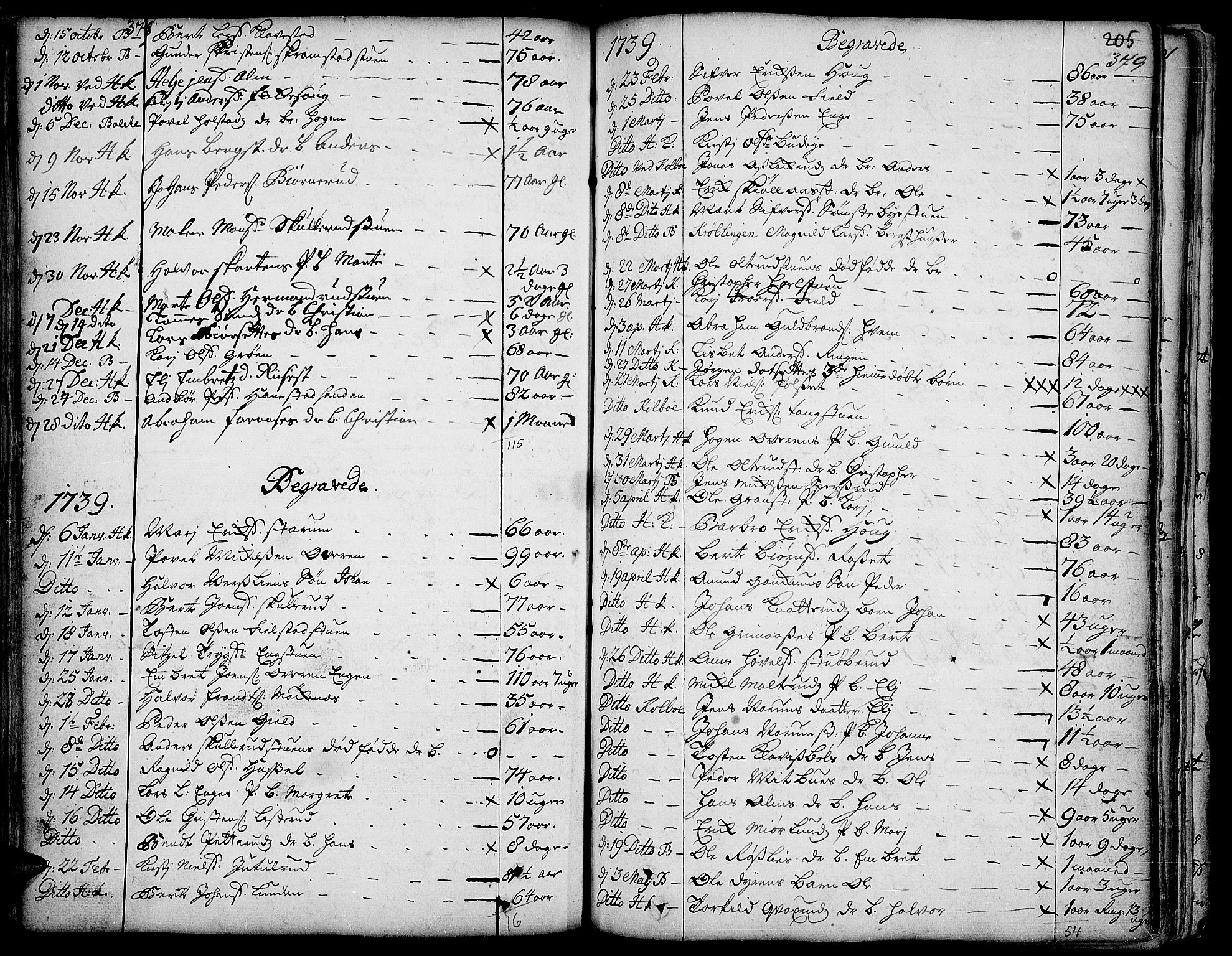SAH, Toten prestekontor, Ministerialbok nr. 3, 1734-1751, s. 378-379