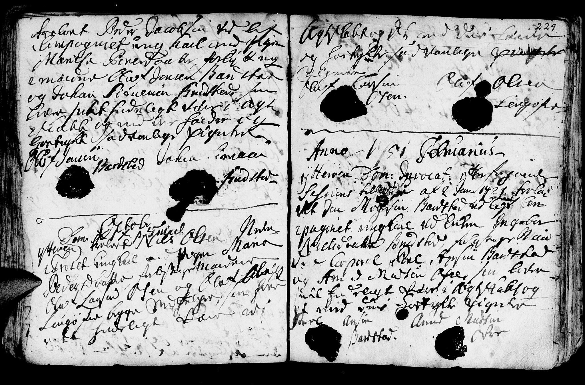 SAT, Ministerialprotokoller, klokkerbøker og fødselsregistre - Nord-Trøndelag, 722/L0215: Ministerialbok nr. 722A02, 1718-1755, s. 229