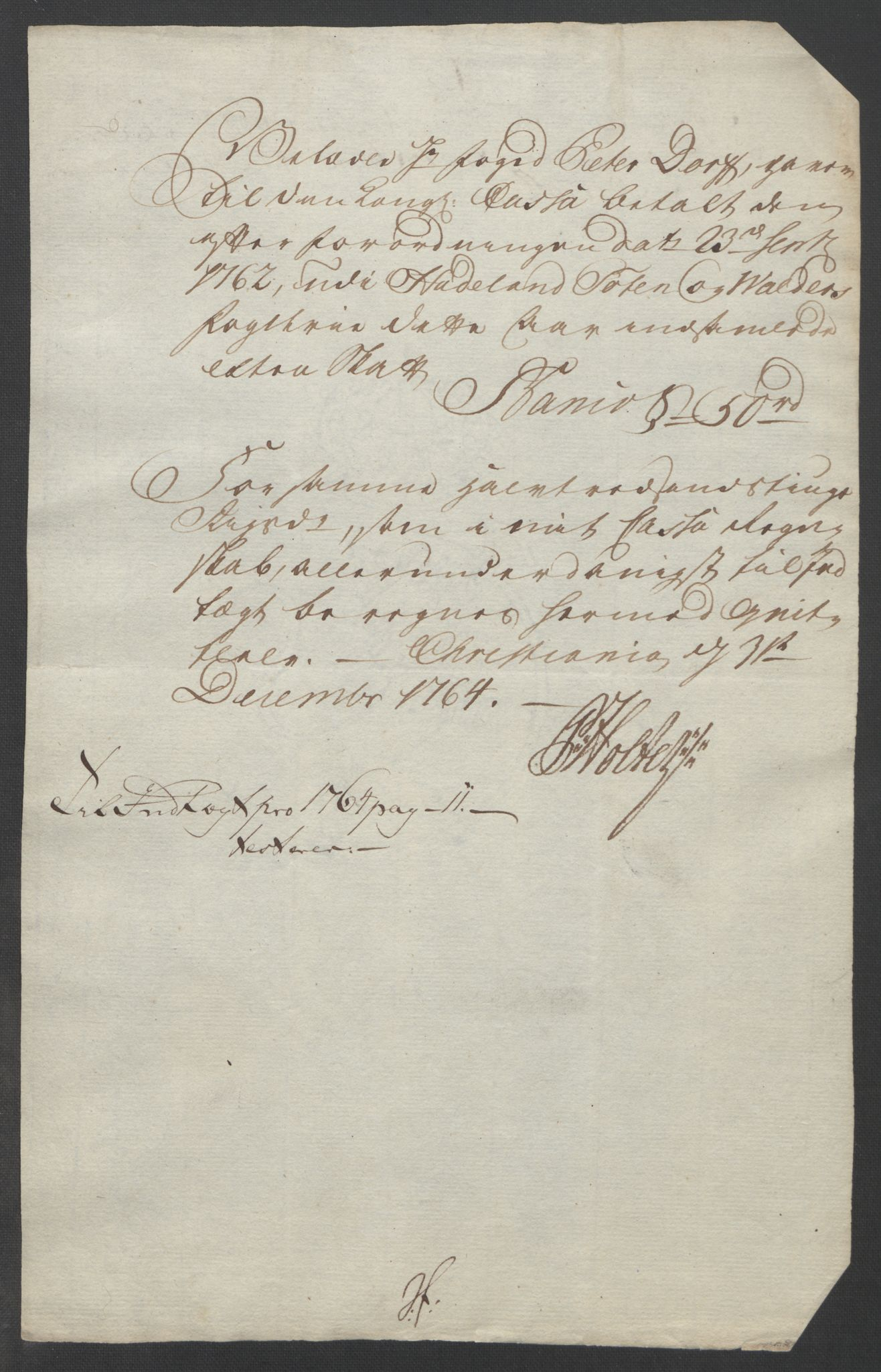 RA, Rentekammeret inntil 1814, Reviderte regnskaper, Fogderegnskap, R19/L1399: Fogderegnskap Toten, Hadeland og Vardal, 1762-1783, s. 61