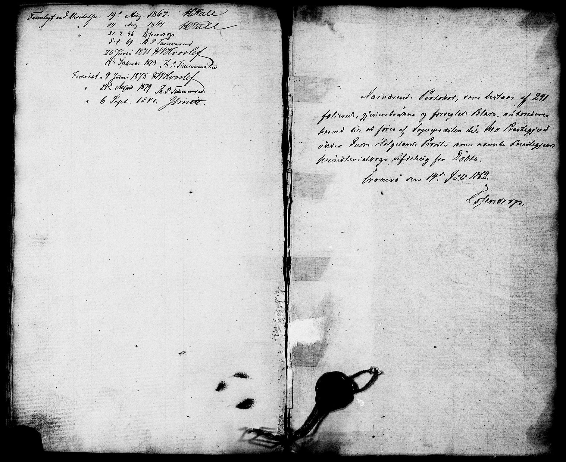 SAT, Ministerialprotokoller, klokkerbøker og fødselsregistre - Nordland, 827/L0393: Ministerialbok nr. 827A05, 1863-1883