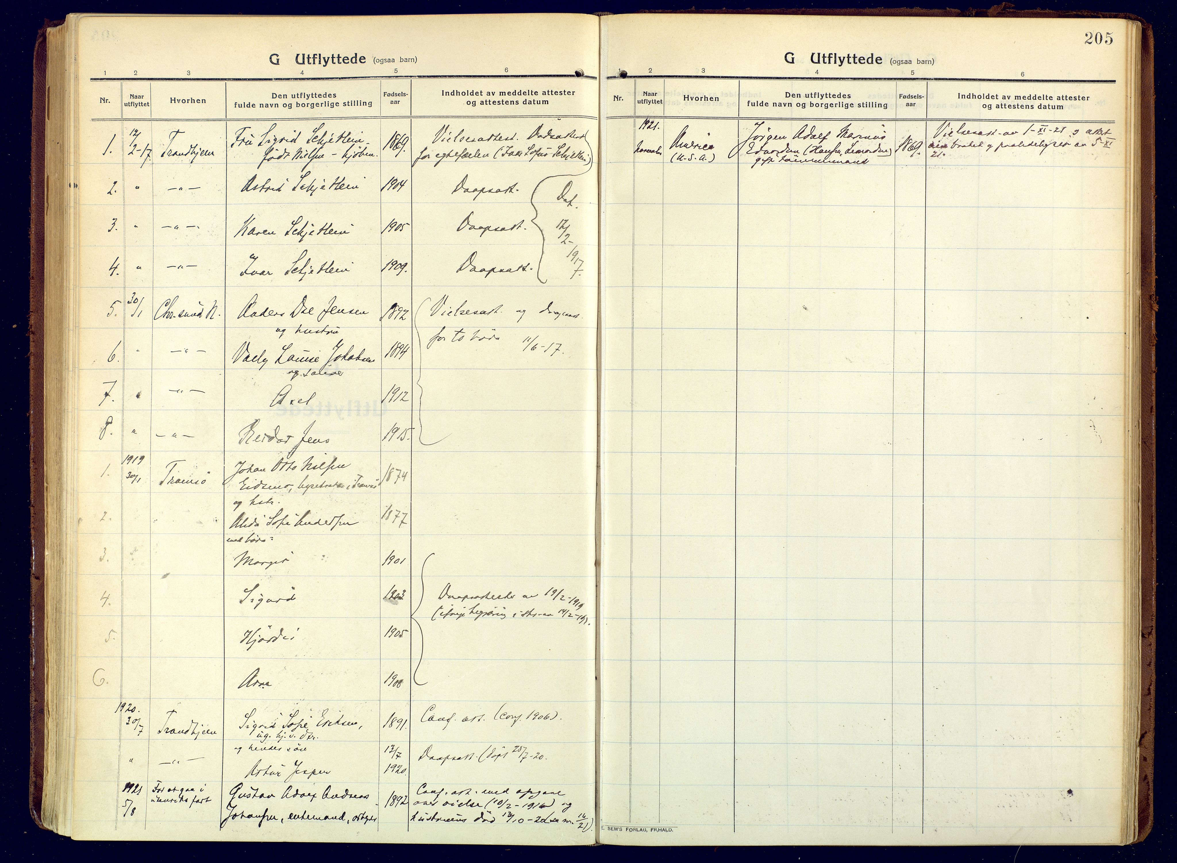 SATØ, Hammerfest sokneprestembete, Ministerialbok nr. 15, 1916-1923, s. 205